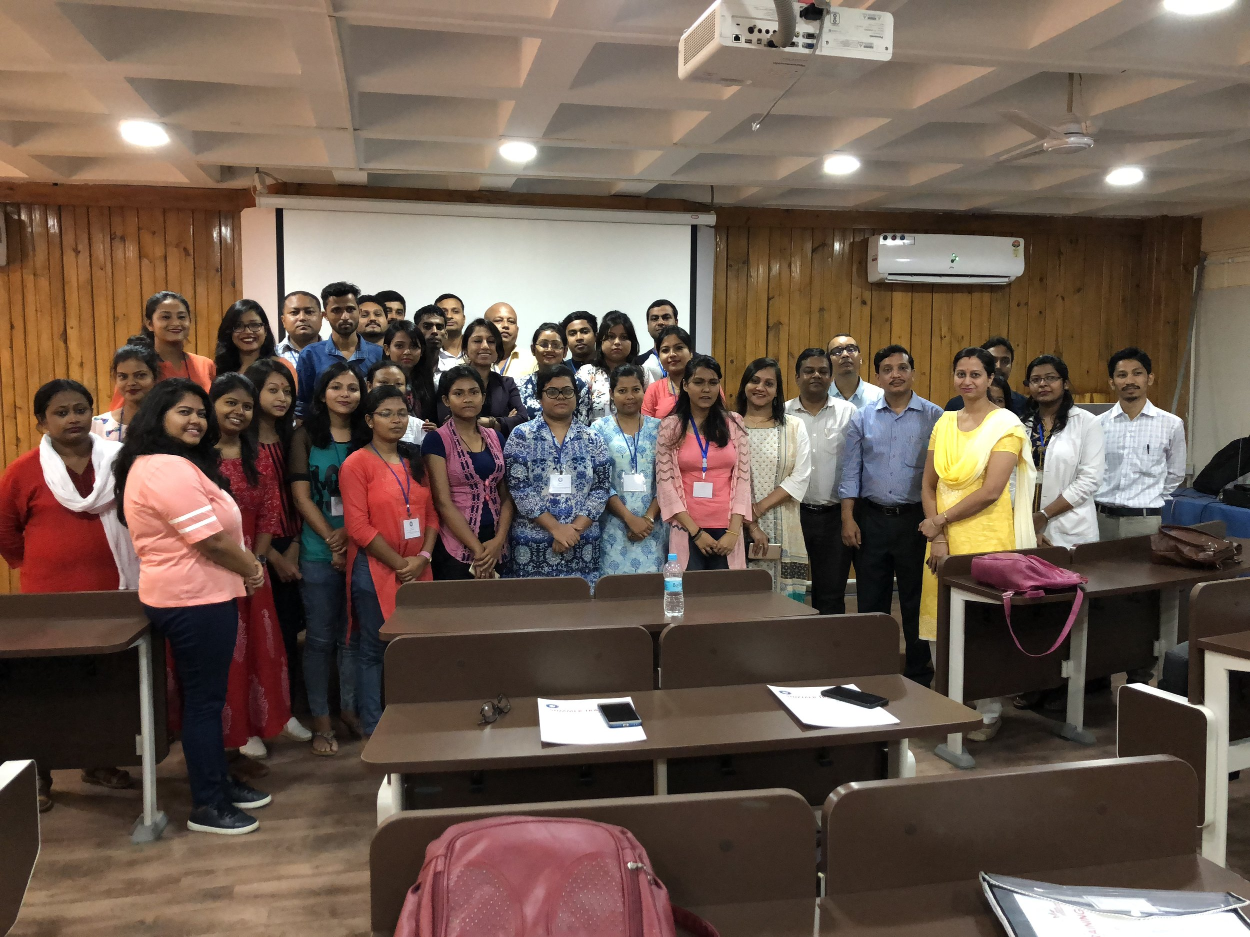 """At Dr. B. Borooah Cancer Center, 14th July 2018, Presentation on """"Breast Cancer - Embarrassment and Taboo"""""""