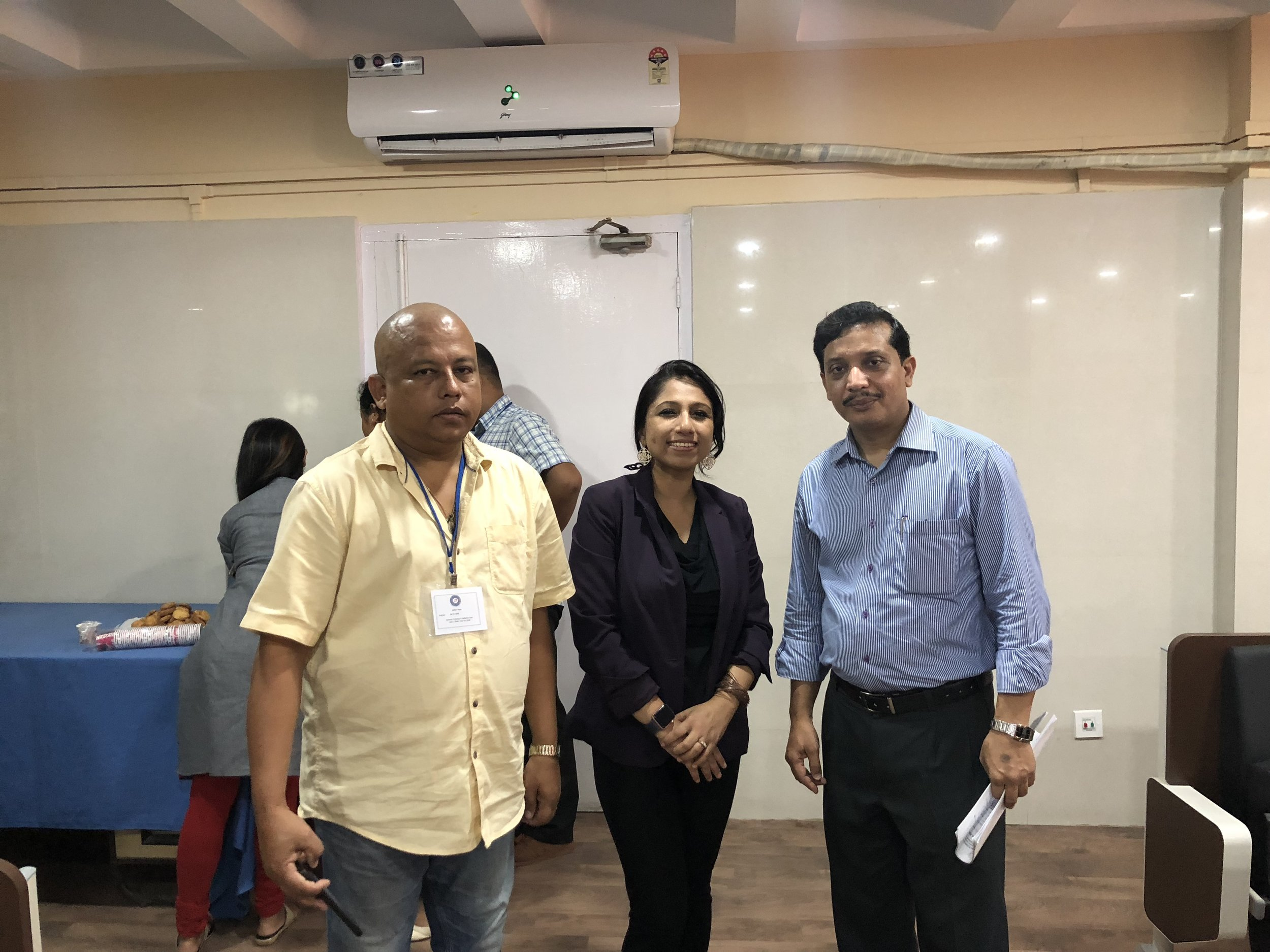 With Dr. H. K Das, Assistant Director (Public Health), ICMR, Dibrugarh and Dr. Kabindra Bhagabaty, Palliative Care Department, Dr. B. Borooah Cancer Center.