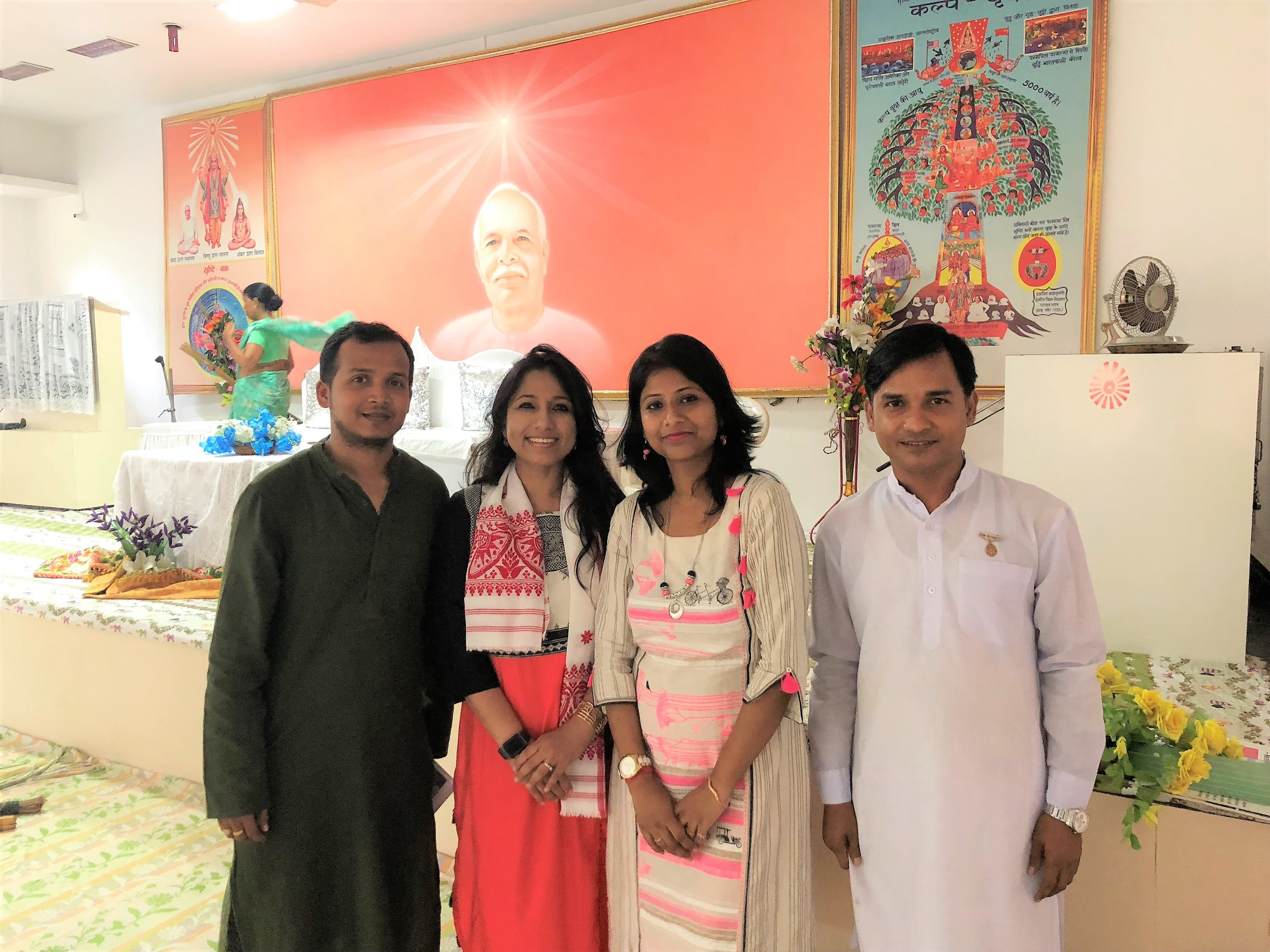 With Dr. Ishita Deb and with the co-founders of Bodhana Mr. Shantanu Paul, Mr. Sandip NathWith Dr. Ishita Deb and with the co-founders of Bodhana Mr. Shantanu Paul, Mr. Sandip Nath