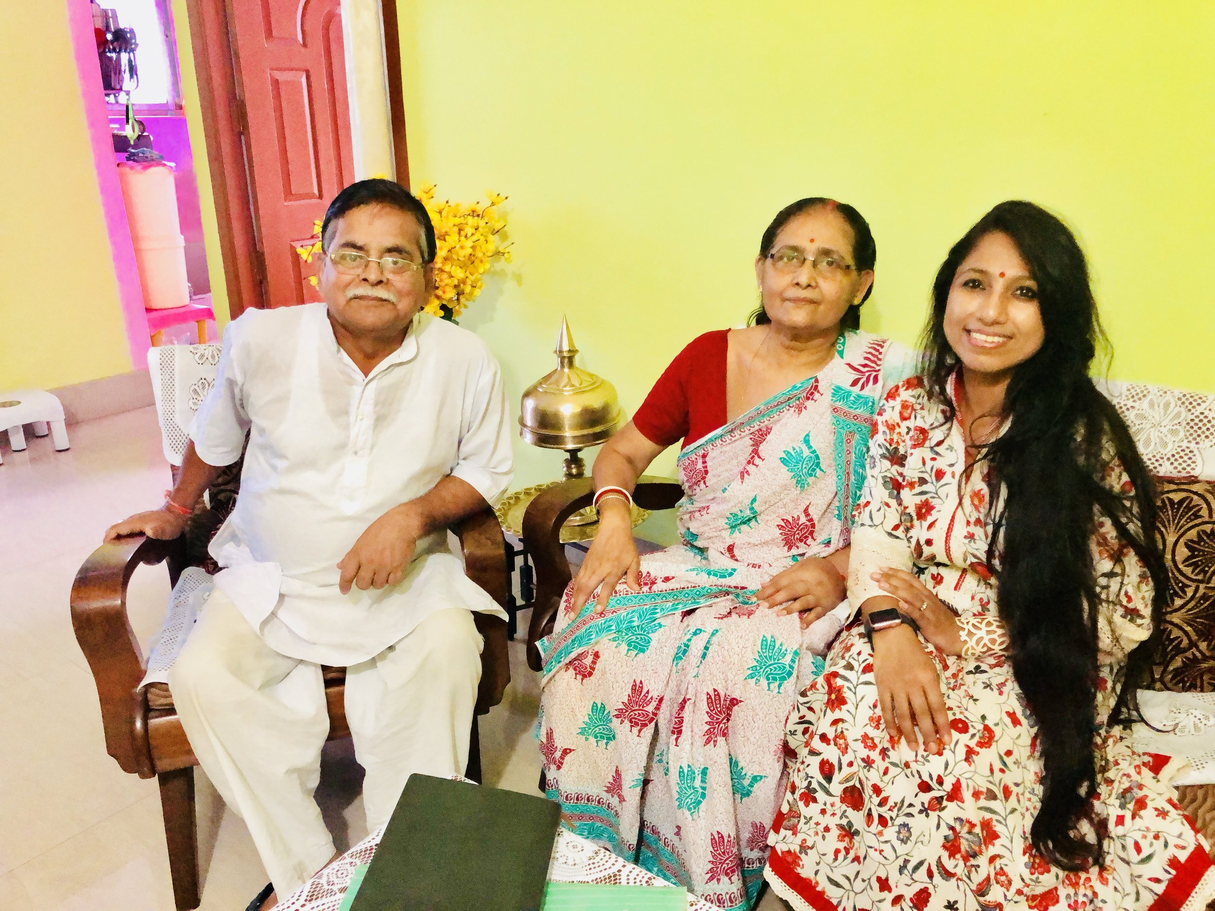 Mrs. Kalpana Choudhury, 10 year survivor, diagnosed at Stage III with her very supportive and caring husband Mr. Kshitish Chudhury.