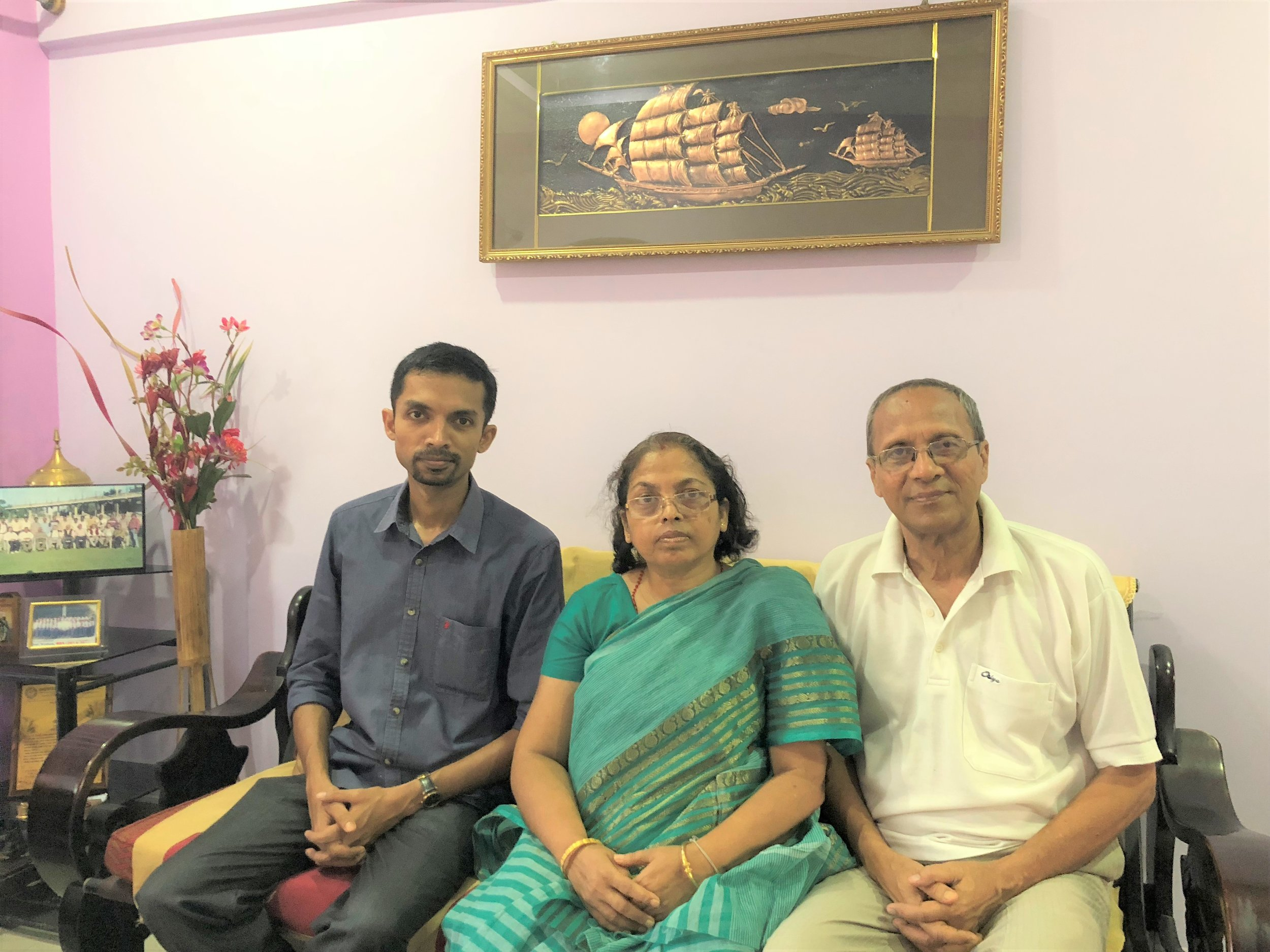 Mrs. Supti Sen, Stage II Breast Cancer Survivor with her husband, Mr. Bikash Shyam and Dr. Biswadeep Shyam. Mrs. Shyam was diagnosed in January 2016!