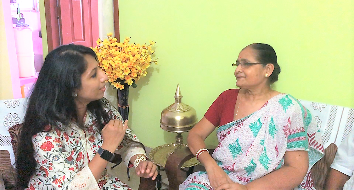 Mrs. Kalpana Choudhury, 65 yrs, 10 year survivor from Stage III breast cancer opens up about her journey. It was a treat & delight meeting such a loving person on 1st August 2018! Sincerely thankful to Mrs. Tomali Brahmachari for connecting me to Mrs. Kalpana Choudhury. It was shyness and ignorance that delayed her diagnosis. She is extremely thankful to her daughter, Mrs. Tomali Brahmacharjee, Mrs. Tomali's mother-in-law, Mrs. Shibani Brahmachari and her son-in-law Mr. Rajarshi Brahmachari who guided her through and through and helped to take immediate action when Mrs. Tomali accidentally felt the lump in the breast of her mother.  It was a treat meeting Mrs. Choudhury on 1st August... so full of life and energy! She never hesitated to speak about her journey and sincerely acknowledged that it was her ignorance that delayed the diagnosis and she wants others not to do the same... that's the spirit and enthusiasm... . Hats off to Mrs. Choudhury!
