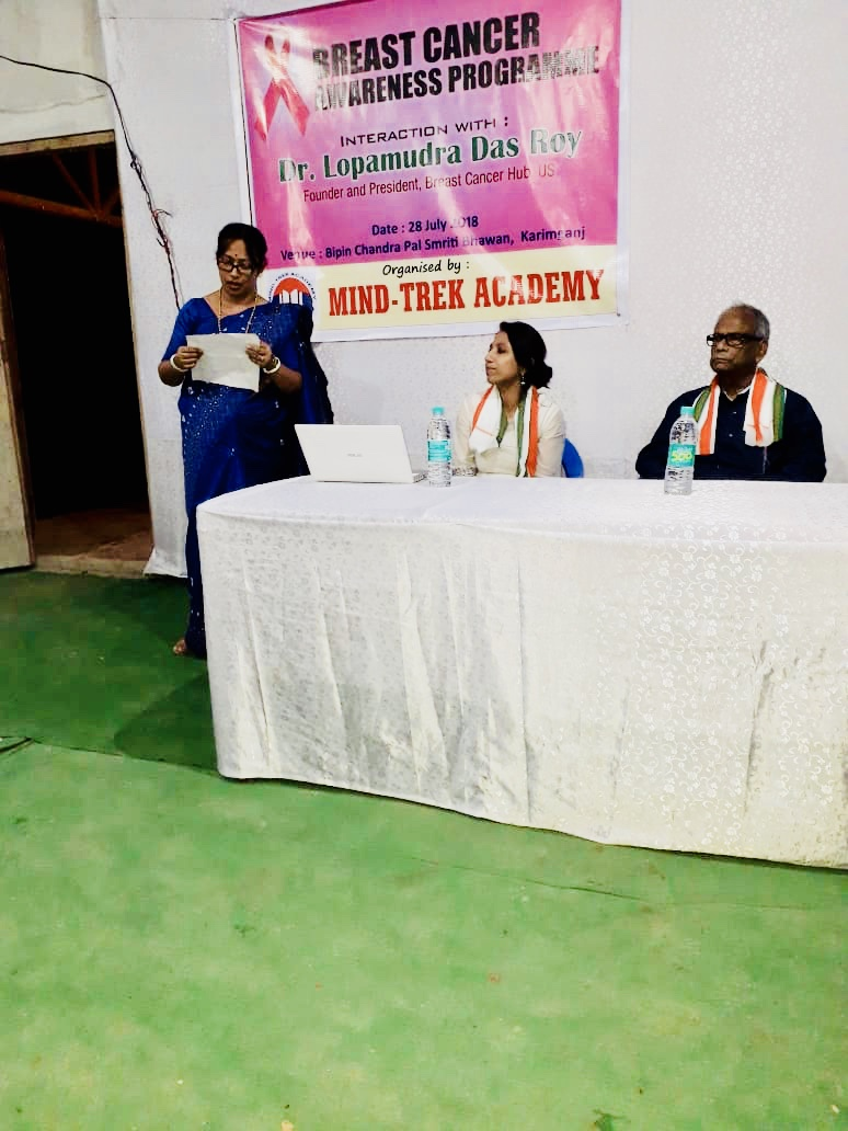 It was an honor and privilege to be together with my father Dr. C. S. Das, Retired HOD, Dept of Pediatrics, Silchar Medical College and now Senior Consultant, addressing the event. I am so thankful to Dr. C.S Das (my father) for connecting me to Dr. Sabyasachi Roy and Mr. Anirban Dey who organized the awareness program on 28th July 2018 in association with Mind-Trek Academy.