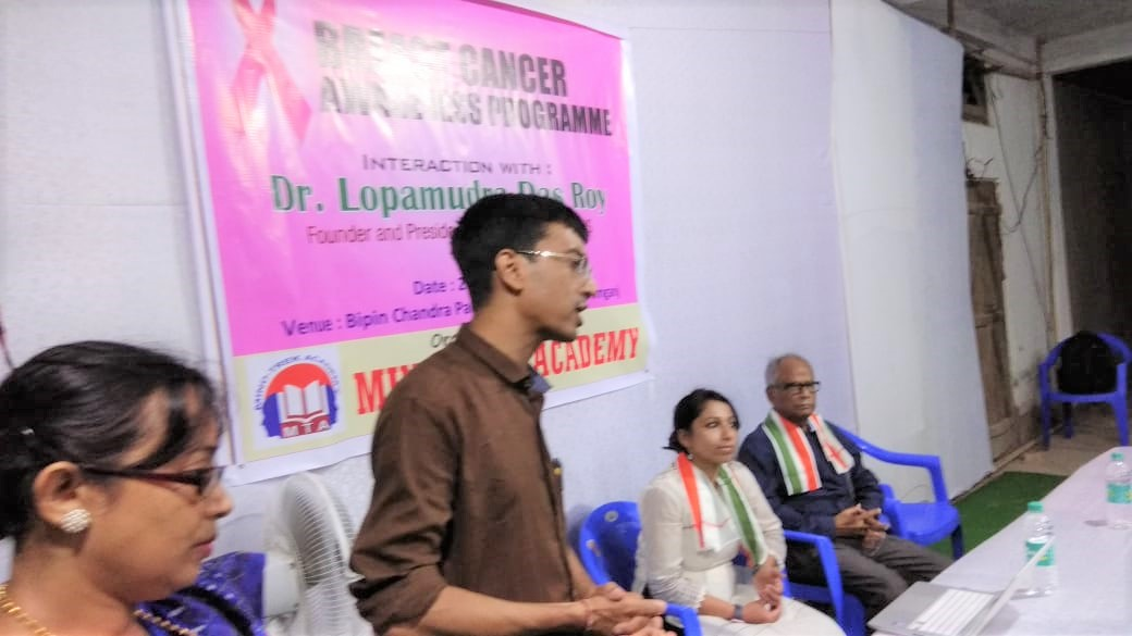 It was an honor and privilege to be together with my father Dr. C. S. Das, Retired HOD, Dept of Pediatrics, Silchar Medical College and now Senior Consultant, addressing the event. I am so thankful to Dr. C.S Das (my father) for connecting me to Dr. Sabyasachi Roy and Mr. Anirban Dey who organized the awareness program on 28th July 2018 in association with Mind-Trek Academy. I am so thankful to Dr. Sabyasachi Roy, Associate Professor of Physics, Karimganj College and Mr. Anirban Dey for coming forward to collaborate, join hands with BCH to increase awareness on this health issue in Karimganj district.