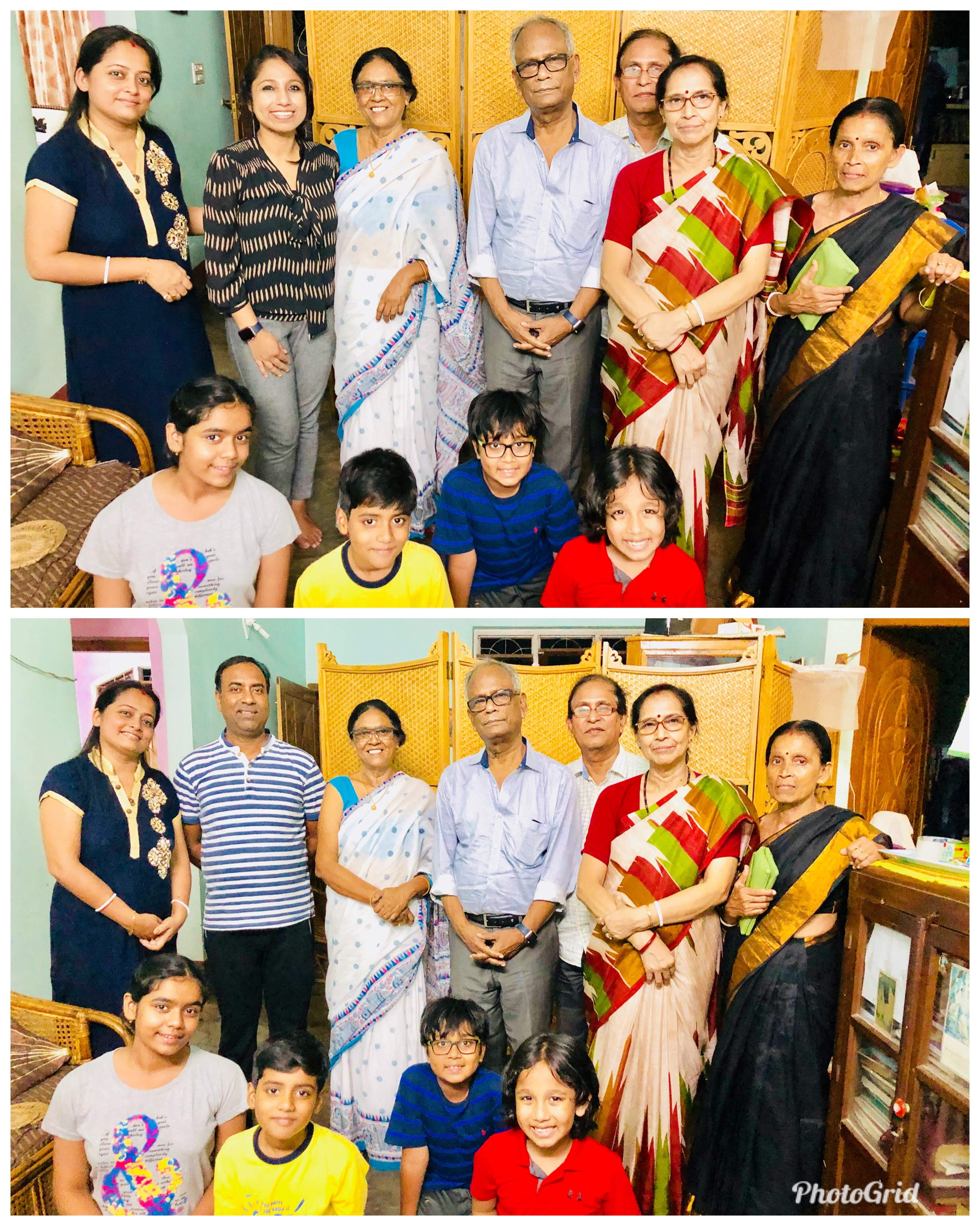 I am sincerely thankful to Mrs. Shibani Brahmachari, Mrs. Tomali Brahmachari and Mr. Rajarshi Brahmachari for their warmth and affection. L to R bottom picture: Mrs. Tomali Brahmachari, Mr. Rajarshi Brahmachari, Mrs. Shibani) Bharmachari; Dr. C. S Das, Mr. K.S Das, Mrs. Rita Das and Mrs. Krishna Das