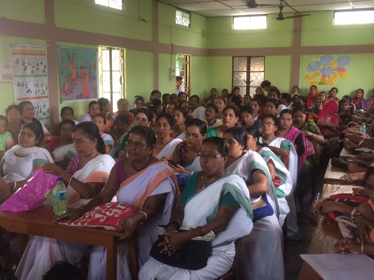 Extremely thankful to the Anganwadi workers and helpers from Borjalanga village & Silchar outskirt rural areas for coming in-spite of the difficult transport, distance & challenging hot weather. Anganwadi is a type of rural child care centre in India. They were started by the Indian government in 1975 as part of the Integrated Child Development Services (ICDS) program to combat child hunger and malnutrition. They help in providing basic education for children and enrolling women to undertake antenatal care. They are also responsible for immunization of children and pregnant women. had enormous rounds of interactions with Anganwadi workers and how they can collectively come together to support Breast Cancer awareness & explain Breast self examination since the Anganwadi workers have direct outreach to the rural sectors – mothers who bring their children to them, women undertaking antenatal care, and other women from various divisions. They have a great opportunity to take the message forward (I will guide them through & through) to the rural India.