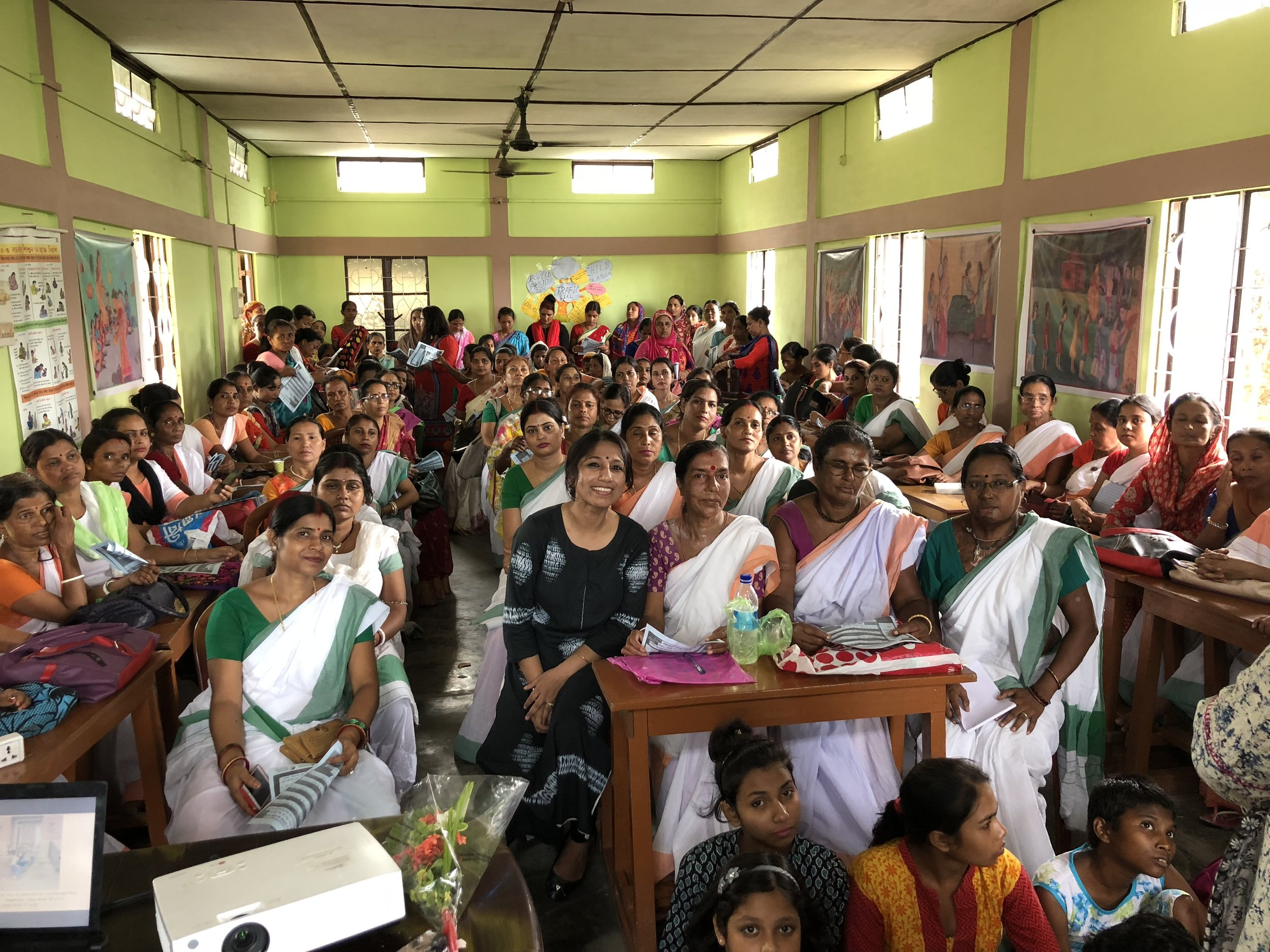 My sincere and heartfelt thanks to Mr. Subir Roy, Planning and Development Officer and Mrs. Diba Roy, Secretary, Nivedita Nari Sangstha for understanding the importance of Breast Cancer awareness and organizing the program by bringing in the Anganwadi workers. Anganwadi is a type of rural child care centre in India. They were started by the Indian government in 1975 as part of the Integrated Child Development Services (ICDS) program to combat child hunger and malnutrition. They help in providing basic education for children and enrolling women to undertake antenatal care. They are also responsible for immunization of children and pregnant women. I am sincerely thankful to all the members who helped in organizing the event:: Ms. Anwara Begum Laskar (helper); Ms. Sumedha Choudhury (Project Manager); Ms. Mahmuda Khanam Laskar (Worker); Ms. Urmi Biswas (Principal); Mrs. Sweety Das (Instructor); Mrs. Diba Roy (Secretary); Ms. Barsha Deb (Instructor); Mr. Subir Roy (Planning and Development Officer). Sincere thanks to Mrs. Kanchan Bhaya (Senior Process Consultant, TechnipFMC) for coming up and helping during the event. I had enormous rounds of interactions with Anganwadi workers and how they can collectively come together to support Breast Cancer awareness & explain Breast self examination since the Anganwadi workers have direct outreach to the rural sectors – mothers who bring their children to them, women undertaking antenatal care, and other women from various divisions. They have a great opportunity to take the message forward (I will guide them through & through) to the rural India.