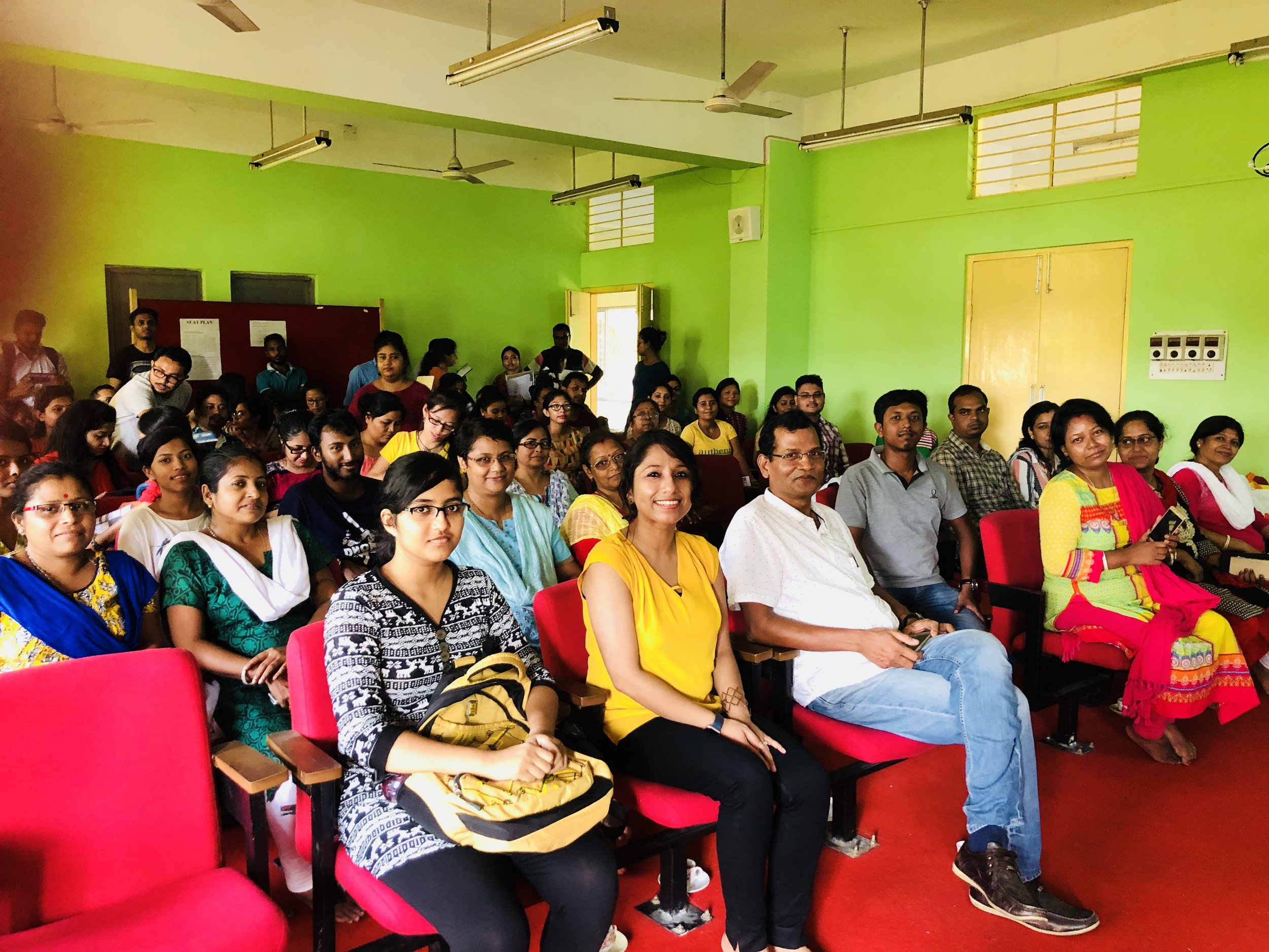 I am sincerely thankful to Dr. Anirudha Giri, Professor, Dept. of Life Science and all the other Faculties, Students and Staffs from AU for joining the event & believing in the cause. I was so delighted to see my Professor from G. C College, Dr. Mitra Dey, who is now Professor at Department of Ecology and Environmental Science, Assam University, attending the session