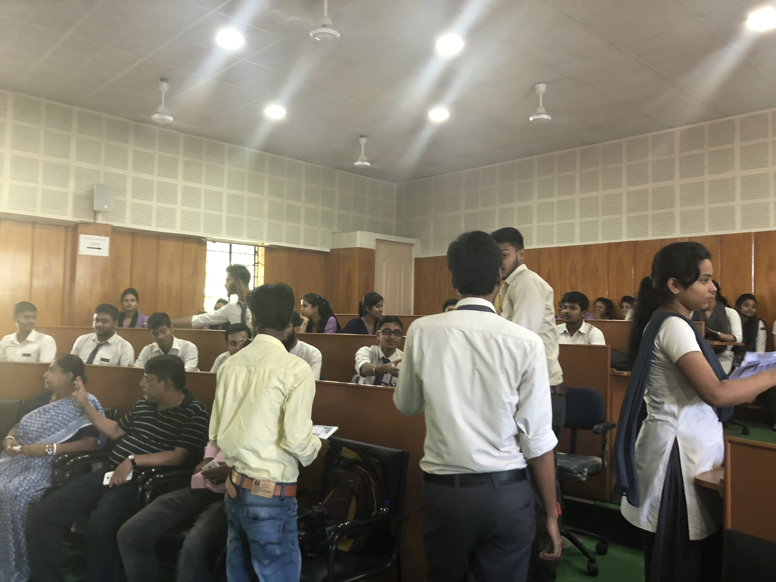 Session 1: Extremely thankful to the Students of Cachar College for your gracious presence and your interest and interactions. Breast Self exam printouts accepted very nicely by the young generation and they will spread it in their respective households and network.