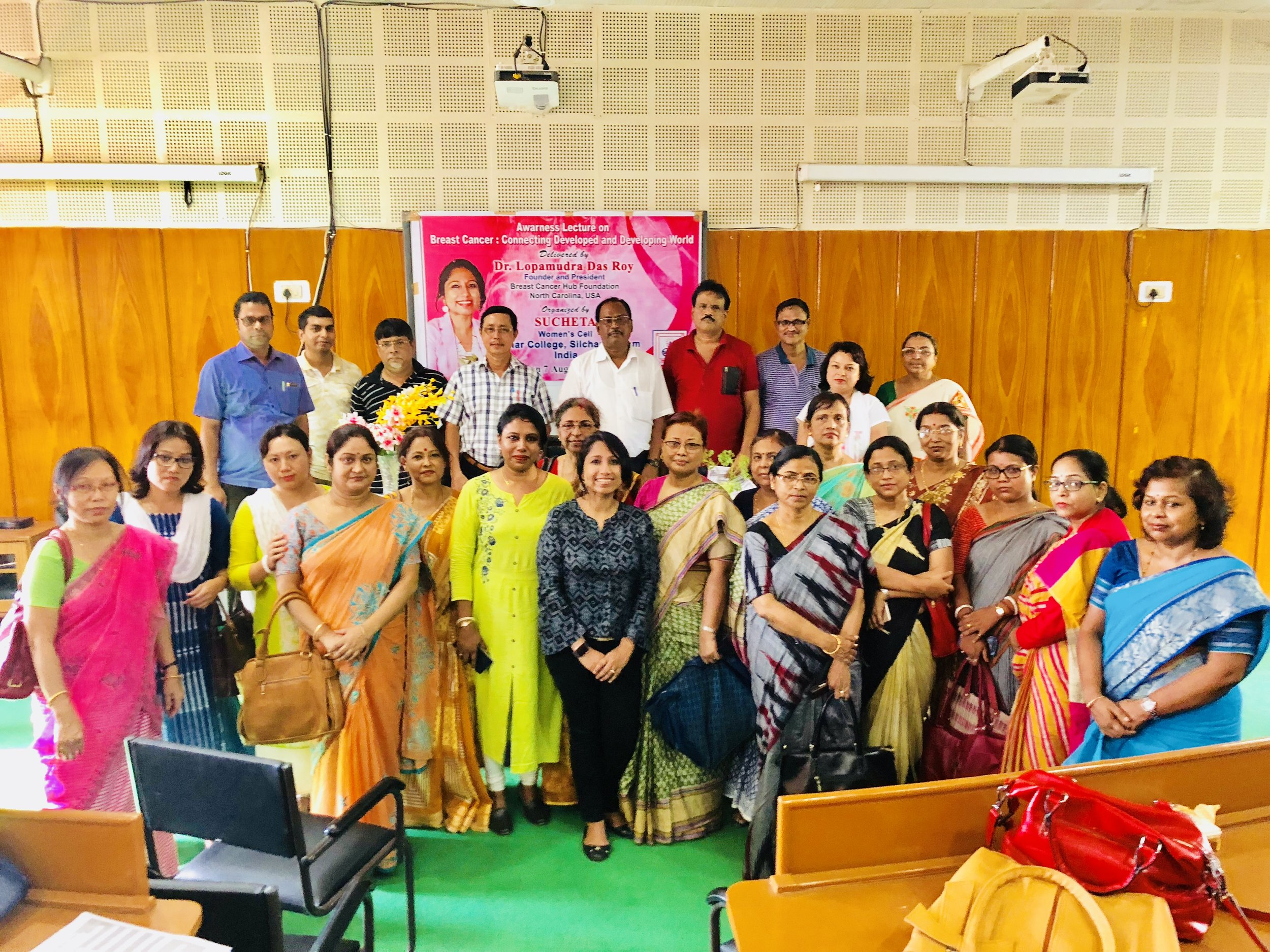 Photo from Session 2: The first session from 11 AM was addressed for the students of Cachar College and the second Event from 1:30 PM onwards for the Faculty & Staffs. My utmost thanks to Mr. Joydeep Biswas, Associate Professor, Department of Economics & Head, Department of Statistics, Cachar College, an inspiration for everyone, for your huge support & generous introduction. Finally, immensely thankful to Sucheta Women's Cell Cachar College, Silchar, Assam for organizing both the events immaculately. Extremely thankful to Dr. Padmasree Chakrabarty, Associate Professor, Department of English and Secretary, on behalf of Sucheta Women's Cell and Dr. Alshahiba Shamsuddin, Associate Professor & Head, Department of economics for coming forward to collaborate.