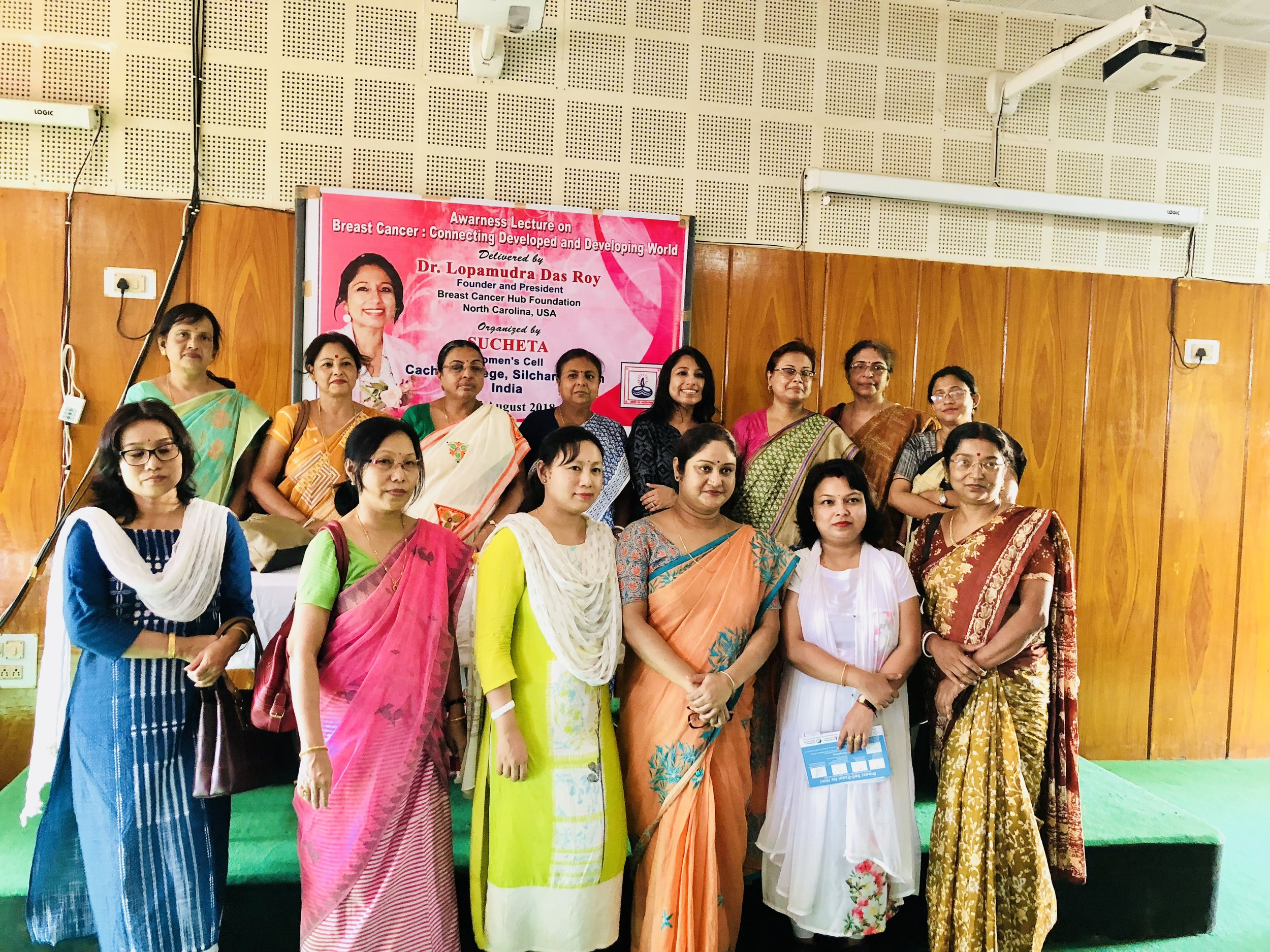 My heartfelt thanks to Sucheta Women's Cell, Cachar College for organizing both the sessions and supporting the cause. Extremely thankful to Dr. Padmasree Chakrabarty, Associate Professor, Department of English and Secretary, on behalf of Sucheta Women's Cell and Dr. Alshahiba Shamsuddin, Associate Professor & Head, Department of ecnonomis for coming forward to collaborate.