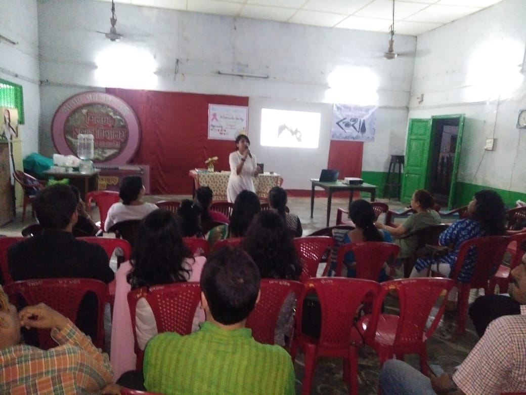Presentation on Breast Cancer Awareness, Early detection and Screening processes-targeting Embarrassment & Taboo & bringing the sruvivors' incredible life journeys being inspiration for everyone. The talk was followed by question – answer session and interactions that took the discussions into various dimensions… loved each moment spent with them…. A memorable afternoon! Katha Bikalpa Parivaar has also come forward to collaborate on the cause of Breast Cancer, and I am so looking forward to work with the dedicated young generation.