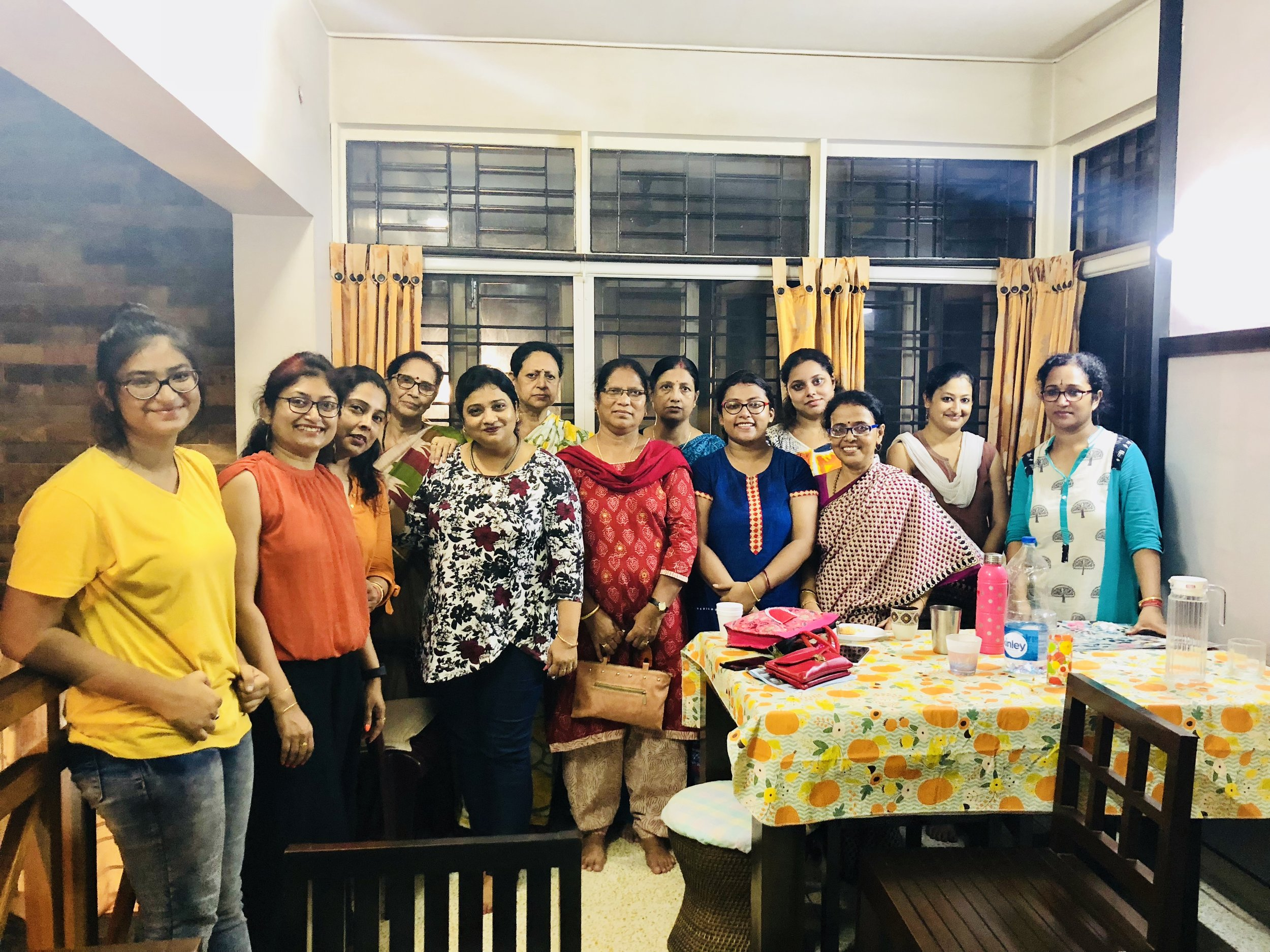 I would like to convey my heartfelt thanks to Mrs. Sandhya Das who organized the event in Kolkata at her residence. I met Mrs. Das in US at her daughter Dr. Manali Das's residence early this year and was sharing my work on Breast cancer awareness programs I was planning to conduct in India targeting embarrassment, taboo & ignorance. I was amazed to see the eagerness in Mrs. Das to help in spreading the word. Mrs. Das not only agreed to build the network but also organized the event in Kolkata, inviting her network of friends, family and neighbors. Hats off to Mrs. Das for her initiative and understanding the grimness of this disease. Thank you for your collaboration. I would also like to thank Mrs. Shompa and Mrs. Susmita Das for helping Mrs. Sandhya Das organize the event!