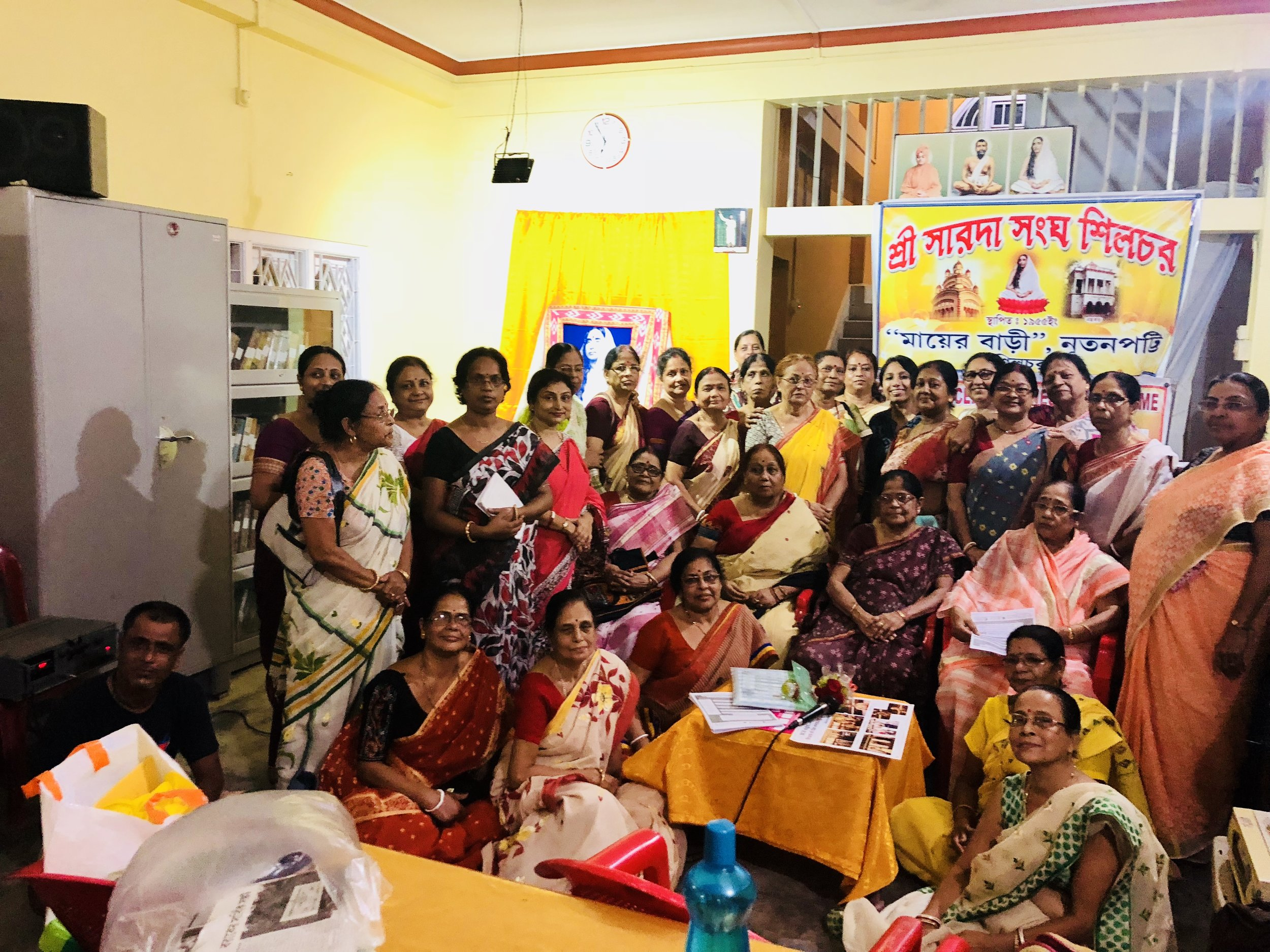 My sincere gratitude to the organizing committee of Sri Sarada Sangha Silchar Branch, for supporting the cause.  We had discussions on diet and lifestyle and also about many factors related to cancer and other diseases in general. Mostly, in all the sessions, I am trying to emphasize on avoiding intake of certain products, people in NE India usually consume and that acts as carcinogen.  Extremely thankful to everyone for your interests and all the respected women present in the audience giving me the assurance that from now onwards, they will take care of their breast health and perform breast self exam religiously and also other screening processes when needed.