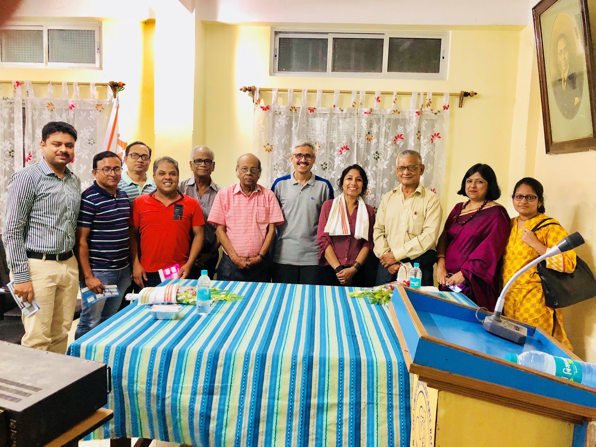 My earnest thanks to Dr. Sarmistha Bhattacharya, Consultant, Obstetrician and Gynecologist, for believing in the cause and for taking the initiative and organizing the program so meticulously, inviting both the nurses and doctors.  My sincere thanks to all the respected doctors who have supported my viewpoints on the low survival frequency of Breast cancer and have come forward to work together to resolve this very grim and critical issue