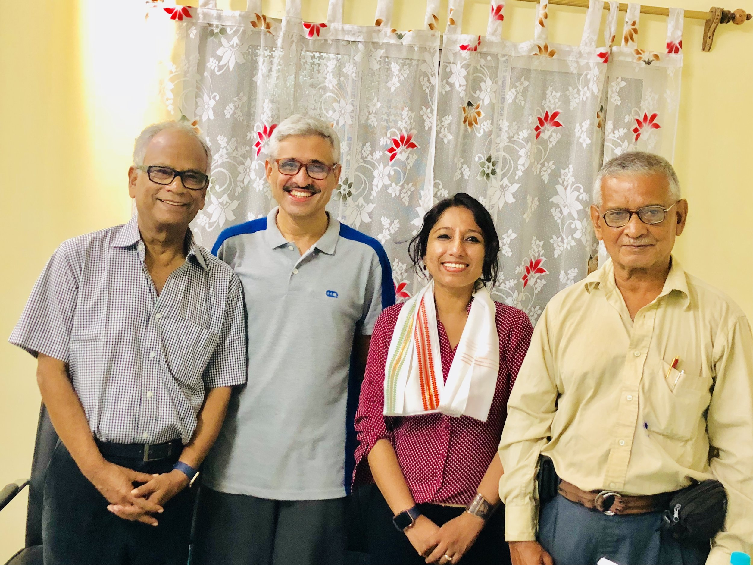 I was so honored that Dr. Bhattacharya invited Dr. Kumar Kanti Das (Dr. Lakhan Das), Director, Kalyani Hospital and Dr. Ravi Kannan, Director, Cachar Cancer Hospital and Research Center to chair the talk/session. It was a great feeling for me to receive the words of encouragement and positive feedback from Dr. Kannan and Dr. K. K Das, whose selfless service to mankind speaks no bounds. It was also my immense privilege to have Dr. Chandra Sekhar Das (my father), Retired HOD, Silchar Medical College, Dept of Pediatrics and now Senior Consultant to be present in the audience