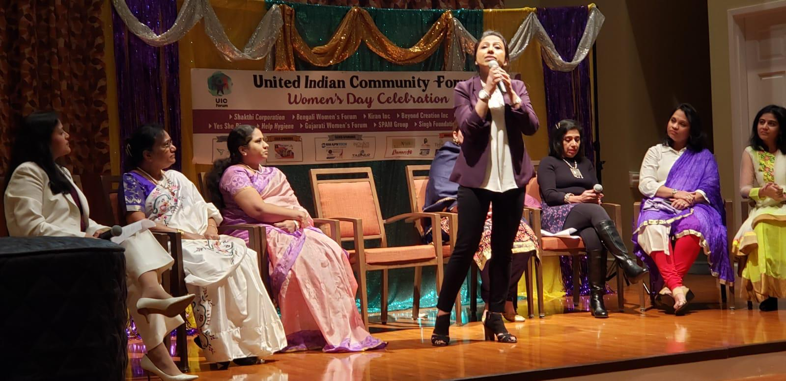 """My privilege to represent Breast Cancer Hub! It is my immense honor to be invited as a panelist & inspiring community leader by United Indian Community Forum - Charlotte, NC, to talk about """"Balance for Better"""" on International Women's day ! it was a privilege to be among such distinguished panelists, amazing moderator Saswati & each person in the room, who is an epitome of energy, strength & independence! Speaking about Breast Taboo was one of the biggest issues I focused on."""