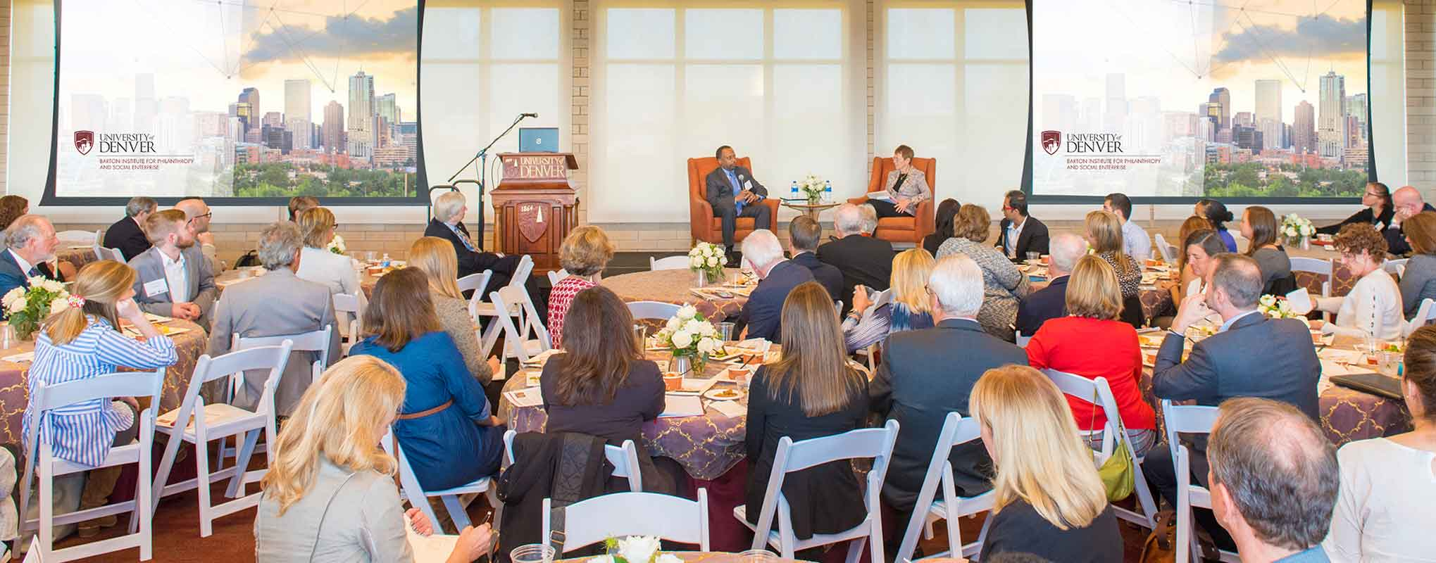 Hundreds of civic leaders gather at the Barton Institute's Bold Philanthropy event.