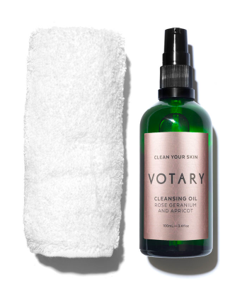 """votary - Cleansing Oil""""Not only does this smell amazing and leaves skin feeling nourished and hydrated, it removes every scrap of make up at night time and can be used as a facial massage oil to wake up your mug before you hit the shower in the morning"""""""