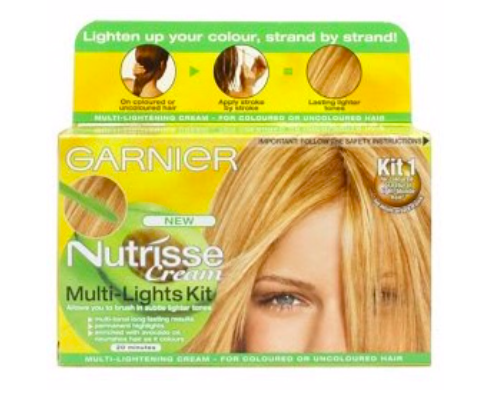 """GARNIER - nutrisse multi-lights""""I''ve been using this product for years, as I think it gives the best natural high-lights that don't damage your hair (I only leave on for 5-7 minutes) be brave with it and only apply to hair that would naturally catch the sun"""""""