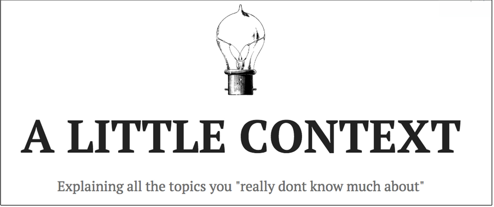 A Little Context Blog