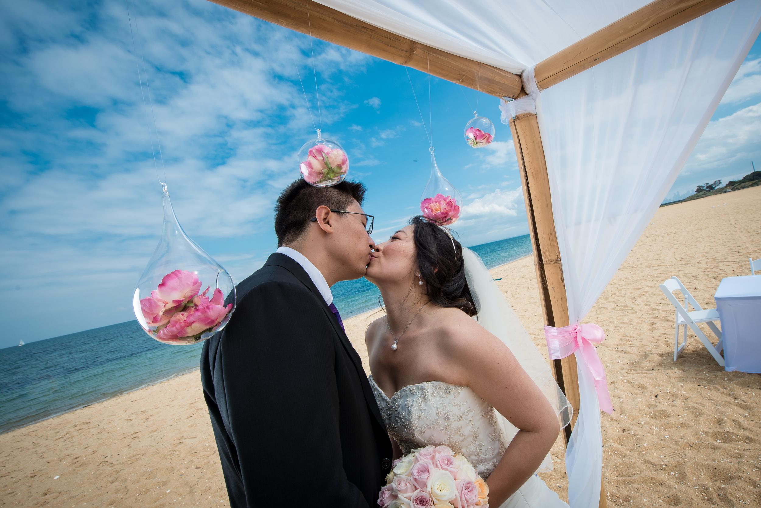 Brighton Savoy beach wedding