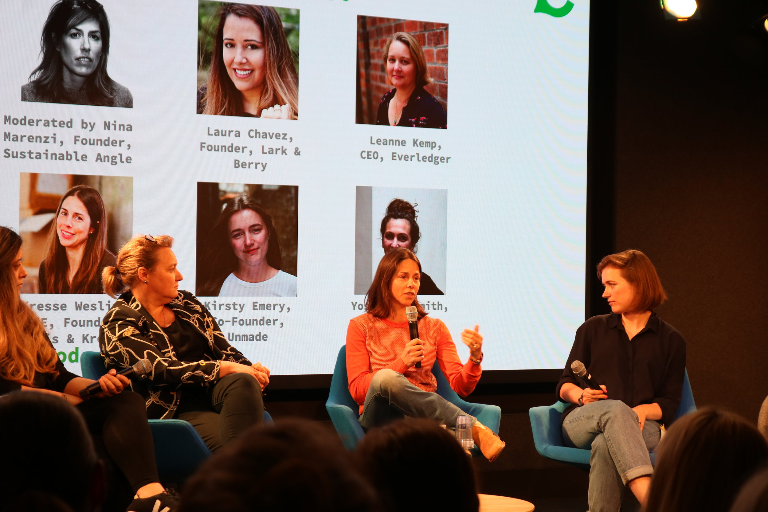 Highlights from our 'Fashion Meets Tech: How Innovation is Creating Sustainability in Fashion' event at our H.Q., Google Campus for Start-Ups. -