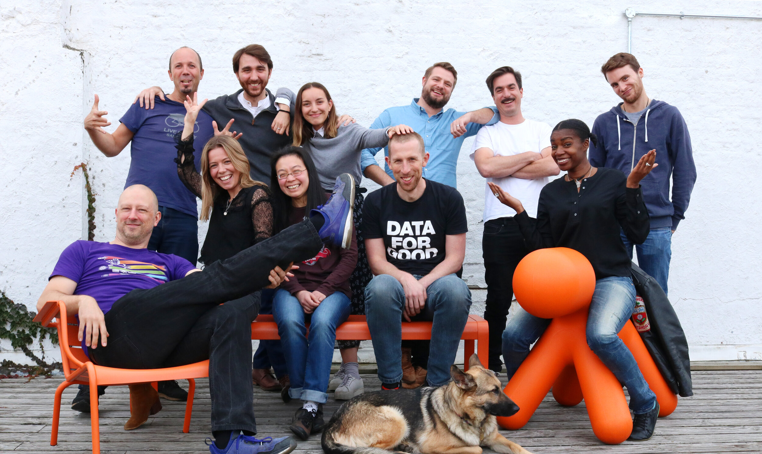 UK Team in London… spot our camera shy team mascot, Quito.