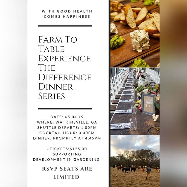 Did you get your ticket yet?? 🎫 They are on sale and going fast! Join us for our spring Farm to Table dinner May 4, 2019 🔗Link in bio