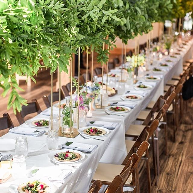 When our florist @warren_forrest pulls branches from the front yard to create this amazing table scape! 😍 She always elevates the room! 📸: @natteats  #farmtotableatl #locallysourced