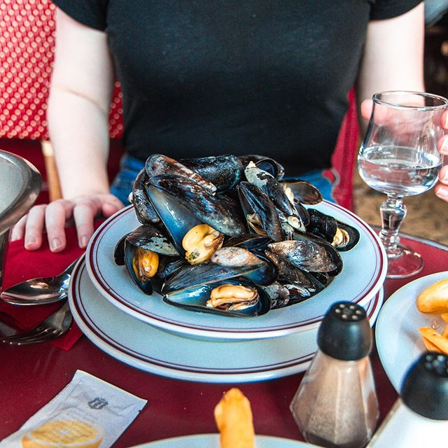 Moules et frites (mussels and french fries)  was on almost every menu in Paris! We also tried escargot, crepes, onion soup, and anything with nutella. Trying new foods is one of our favorite parts of traveling!