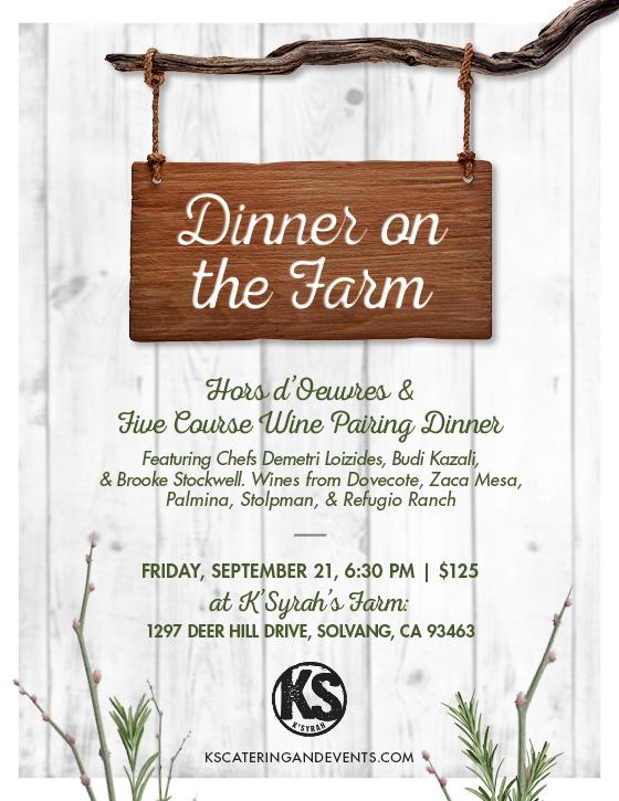 K'Syrah's Dinner on the Farm