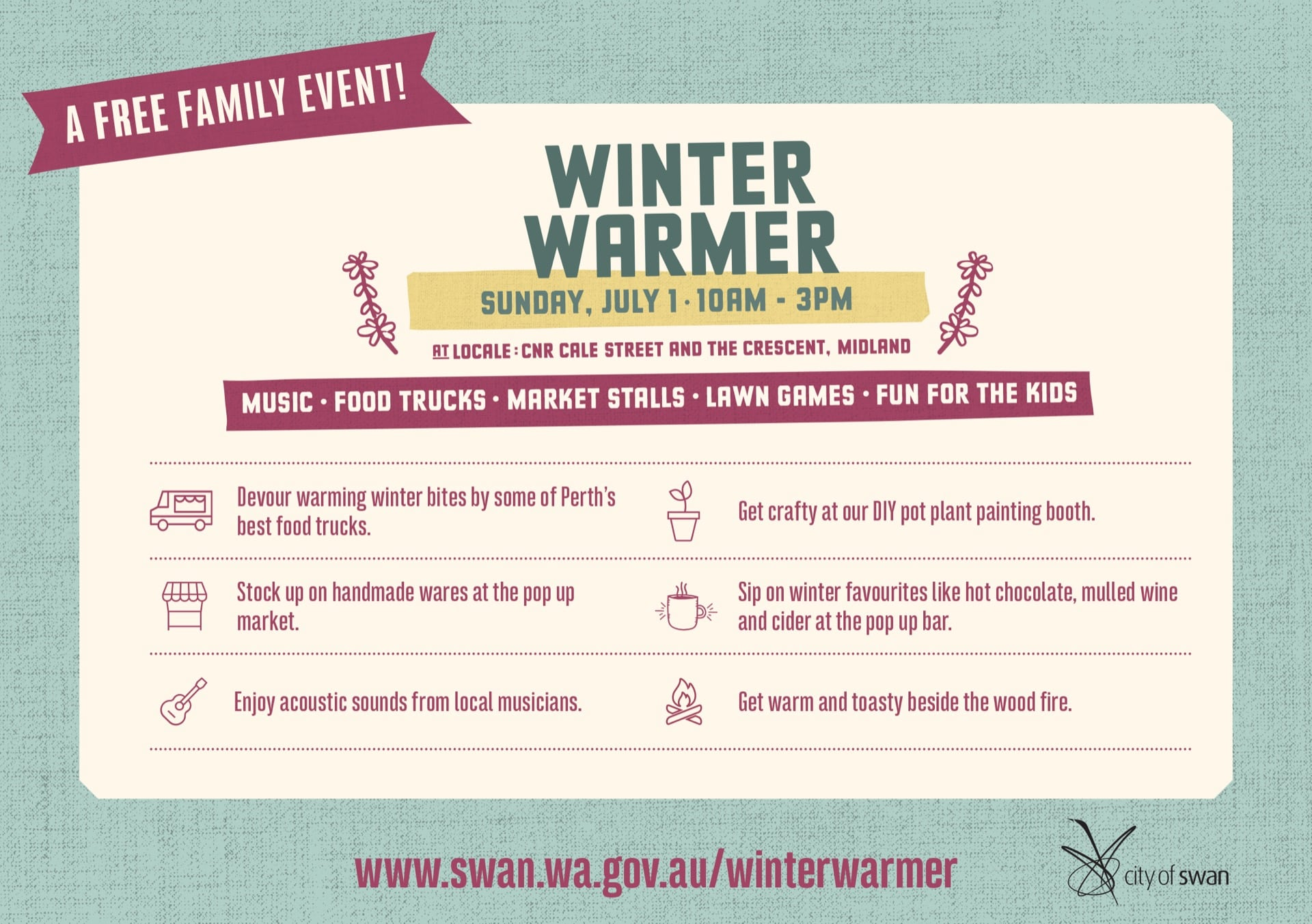 City of Swan Presents:Winter Warmer at Locale