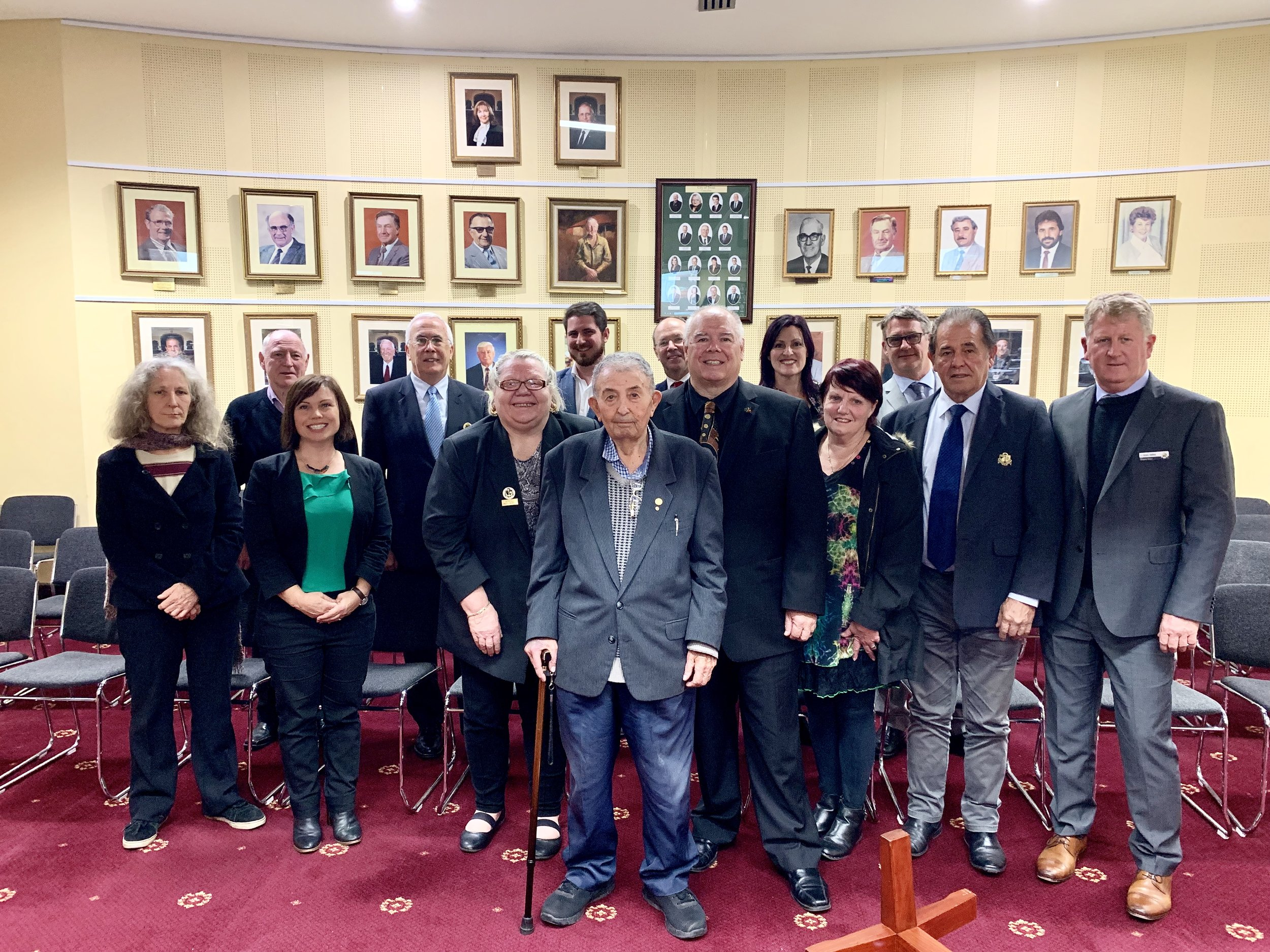 Mr Giovanni Stefanelli pictured with Council at last week's Special Council Meeting