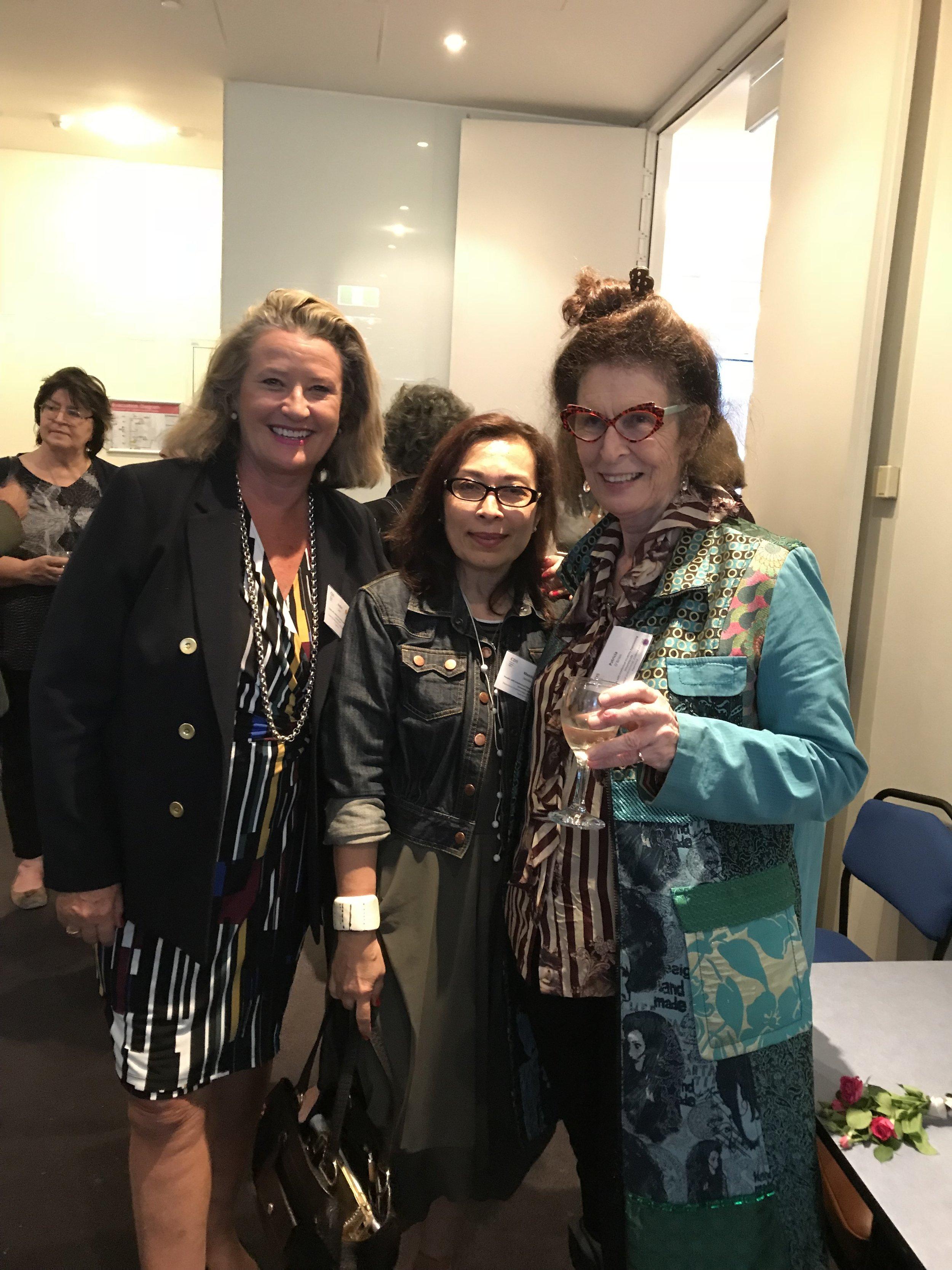 Left to right: Arahni Sont - Centro ASSIST, Meeda Jacobs - Foundation Secretary at Uni2 Beyond Foundation, Professor Patricia O'Brien - Executive Director of CDS - Professor of Disability Studies