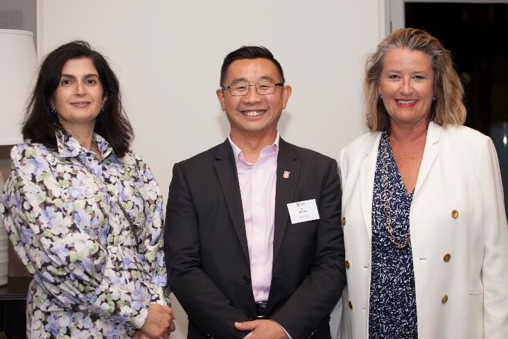 Left to right: Hilda Clune, PwC Global, Jatia Teoh, UNSW Business, Arahni Sont, Centro ASSIST
