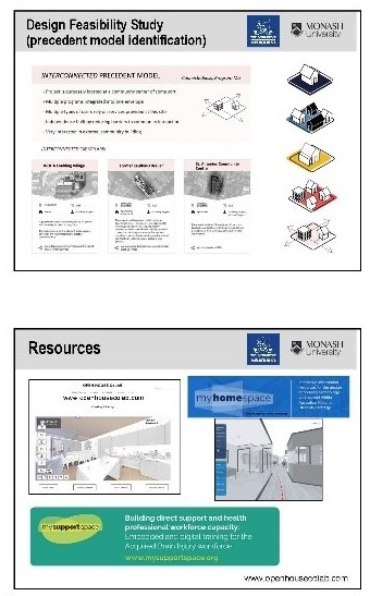 Figure 7: Design Feasibility Study and openhousecolab.com Resources