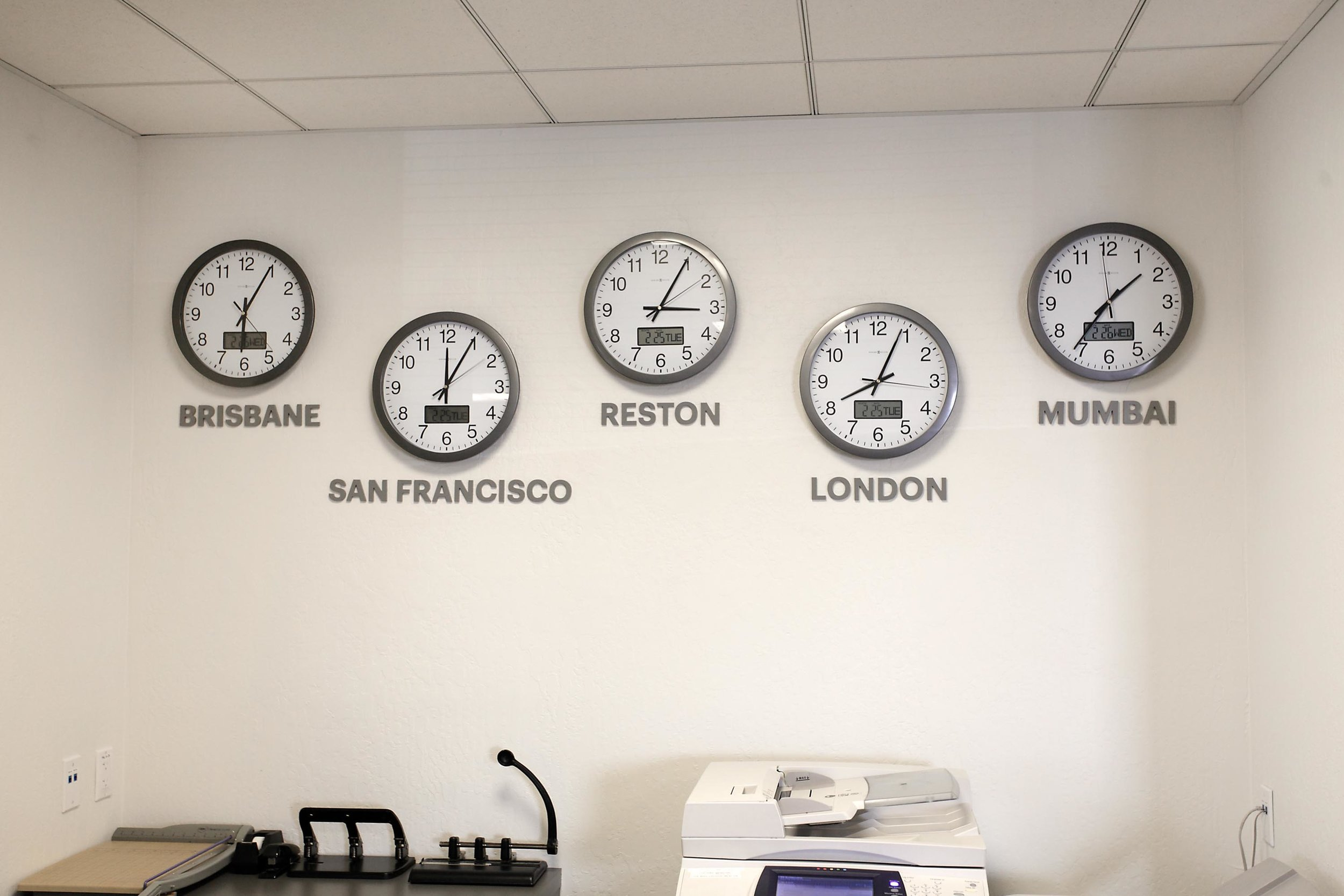 Clock with different time zone
