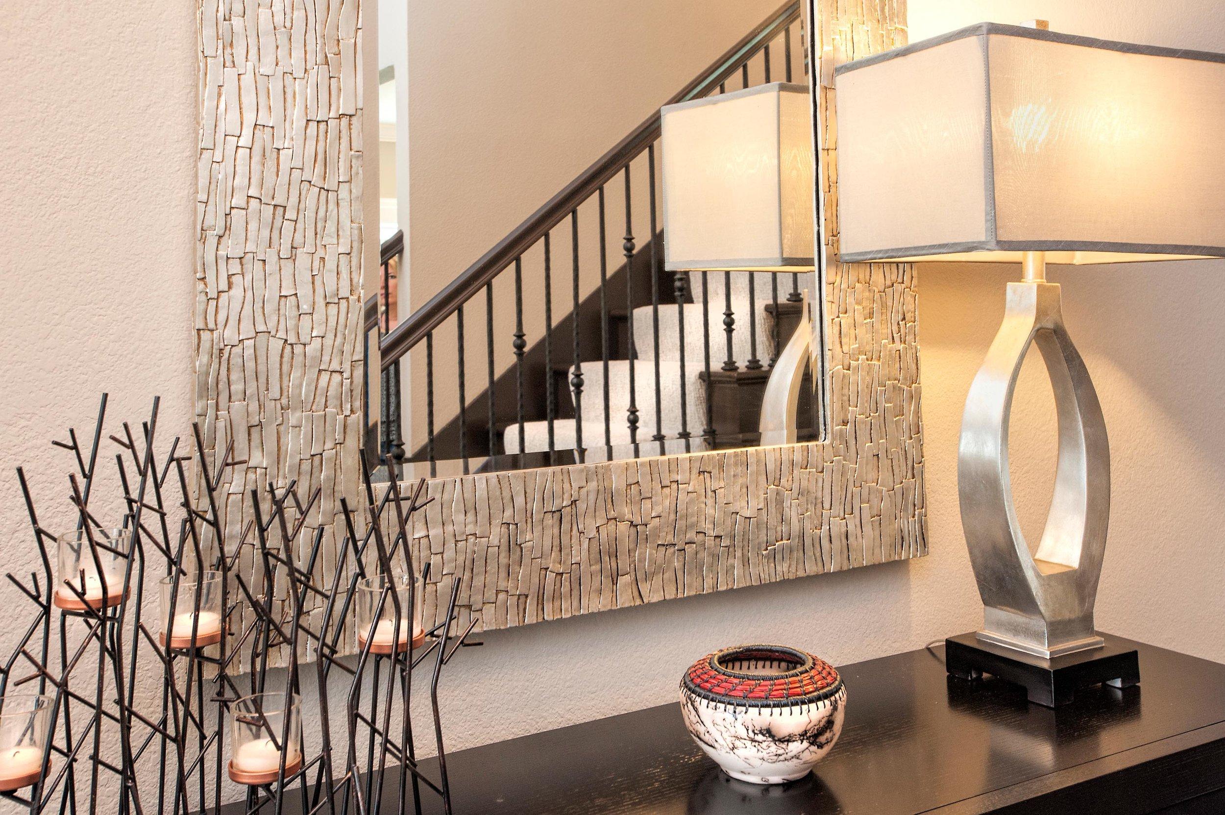 Stylish Lamp and mirror