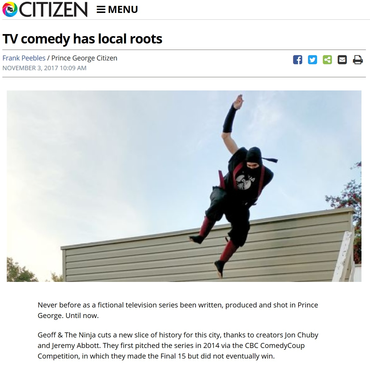 Look Mom! We made the paper! -