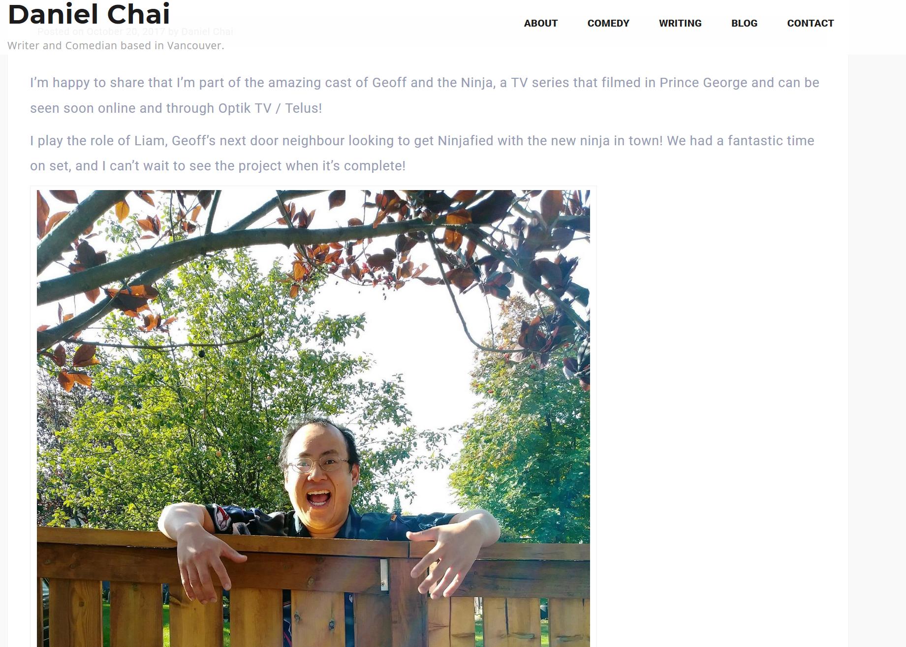 Comedian Daniel Chia gets Ninjafied! -