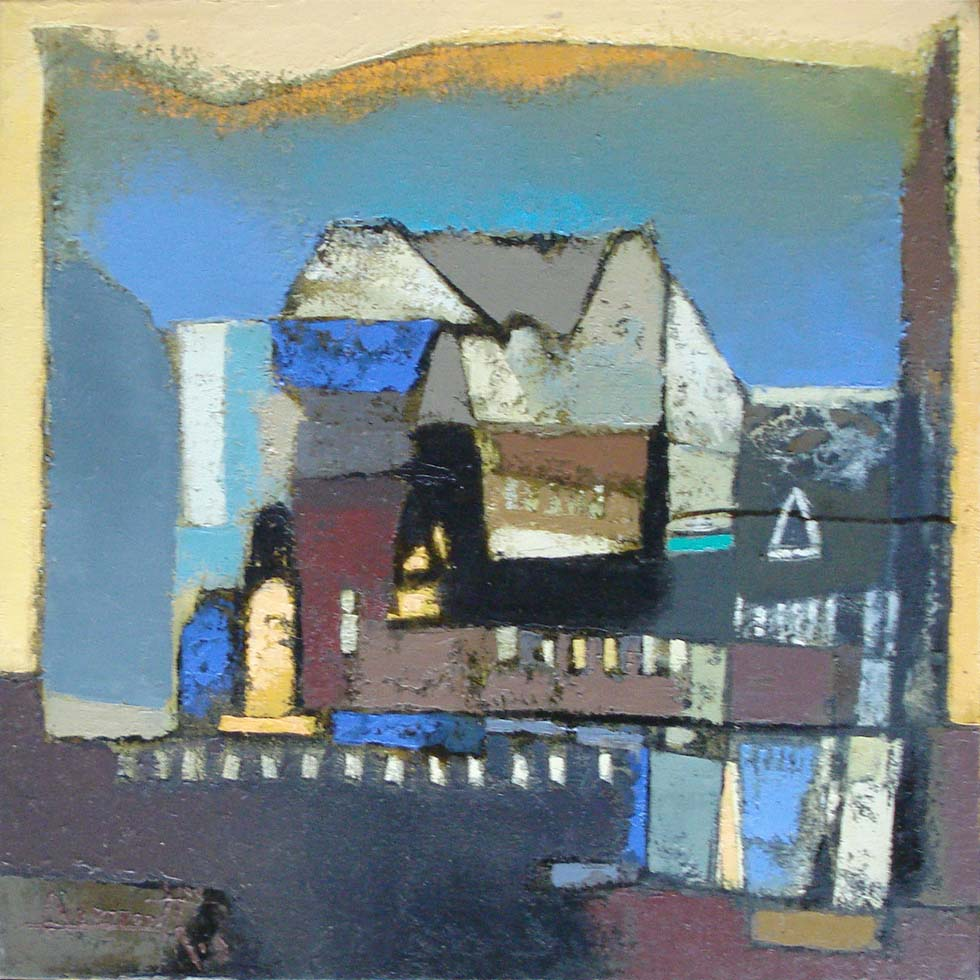 Structures. Oil on canvas, 20 x 20 inches, 2009. Art No. 11112.