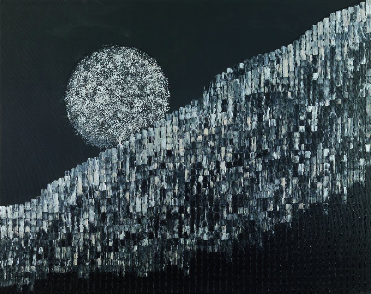 Full Moon Night. Acrylic on canvas, 55 x 96 inches. Art No. 8331.