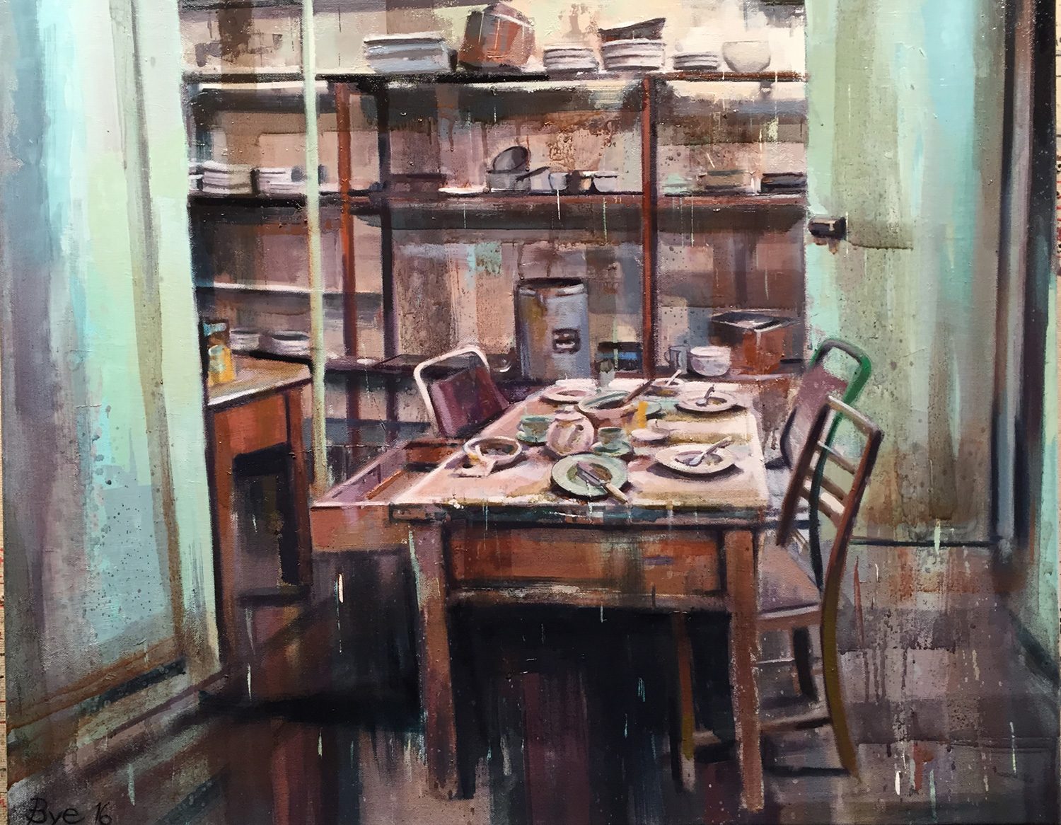 "Pantry, Oil on Linen (24"" x 30"")"