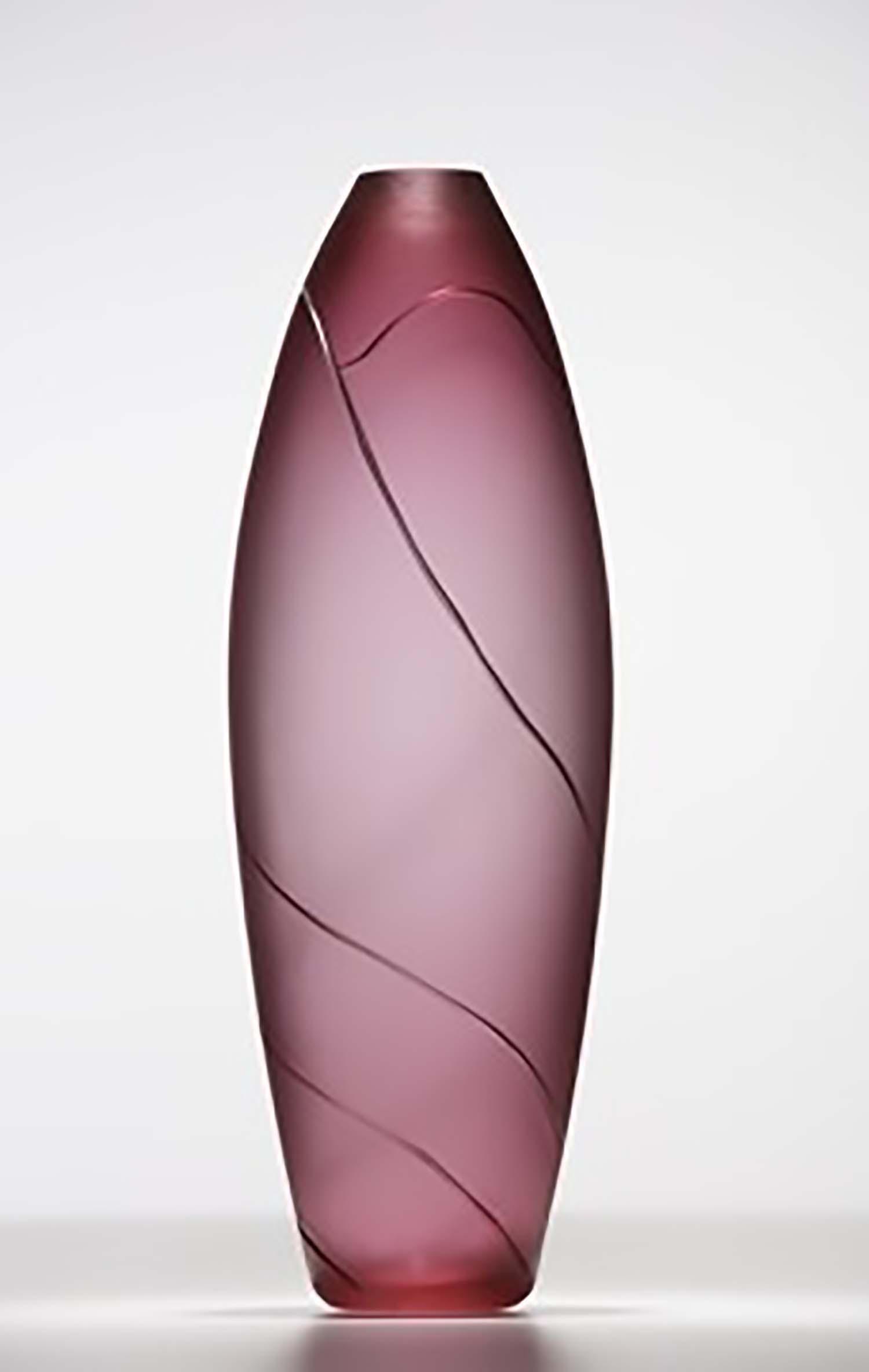 pink landscape vase