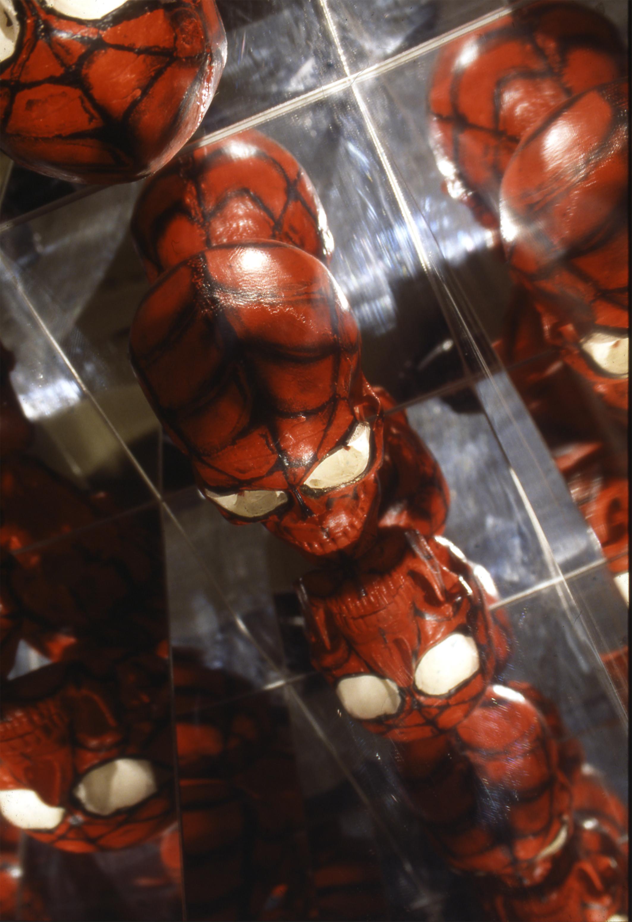 SPIDER-MAN - THE AMAZING - TIJUANA - MEXICO , 1998 . Mixed media. Photo: Claudio Abate