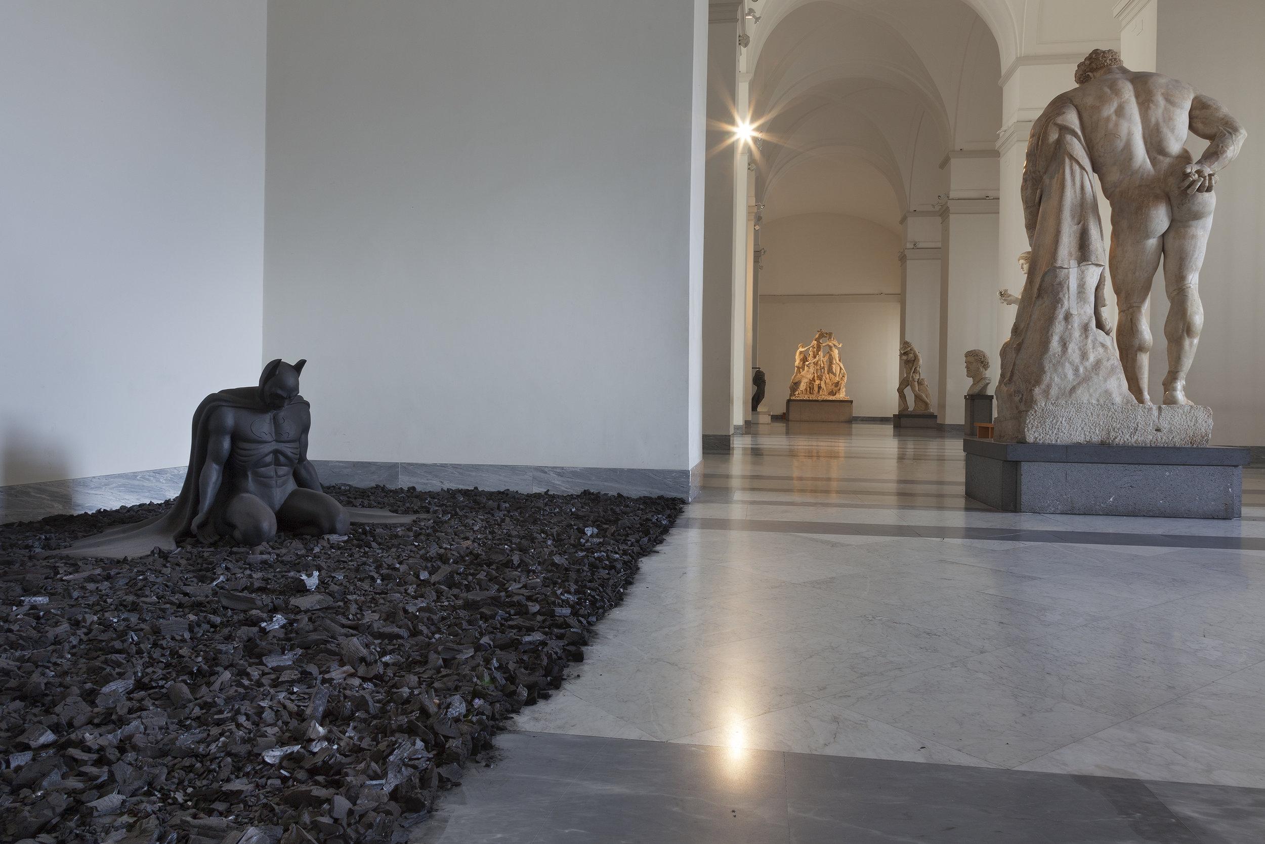 Back in Black , 2005 . MANN - Museo Archeologico Nazionale di Napoli, Naples 2016. Installation view. Photo: Claudio Abate