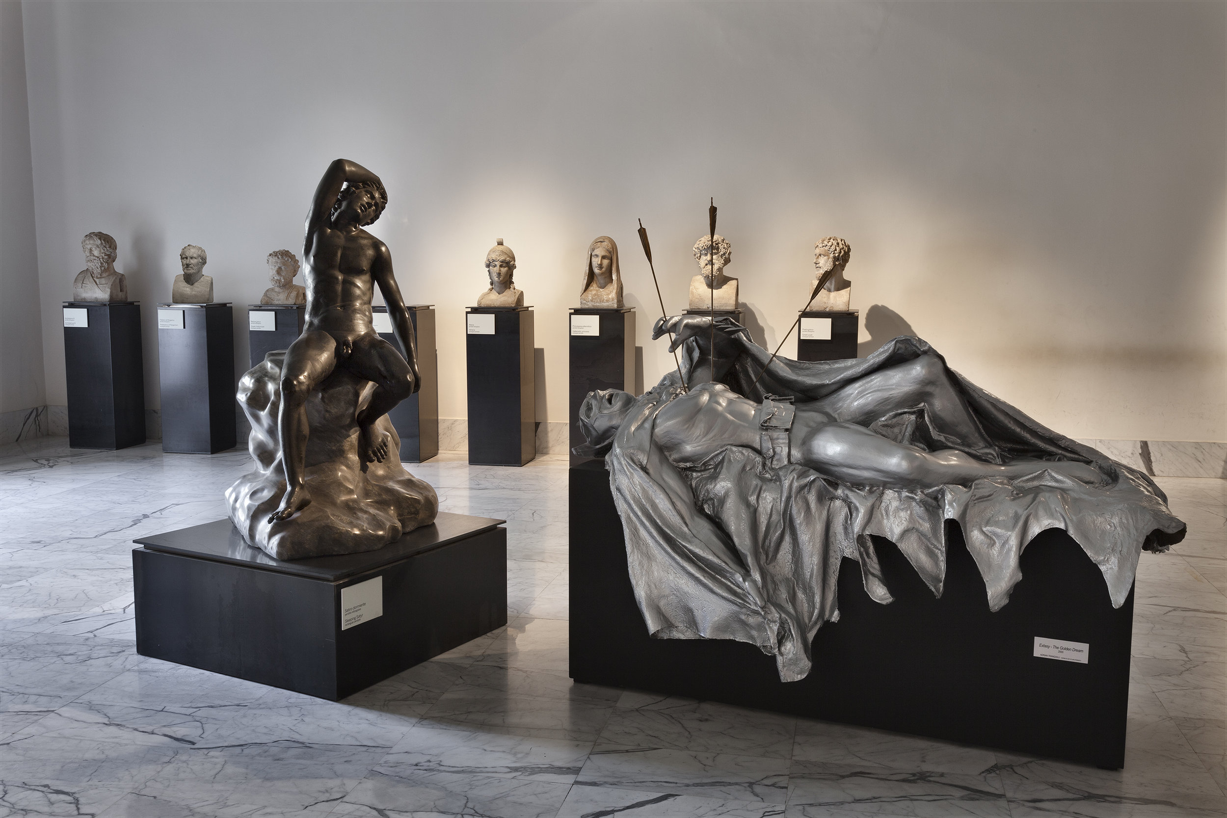 EXTASY - The Golden Dream , 2000 . MANN - Museo Archeologico Nazionale di Napoli, Naples 2016. Installation view. Photo: Claudio Abate