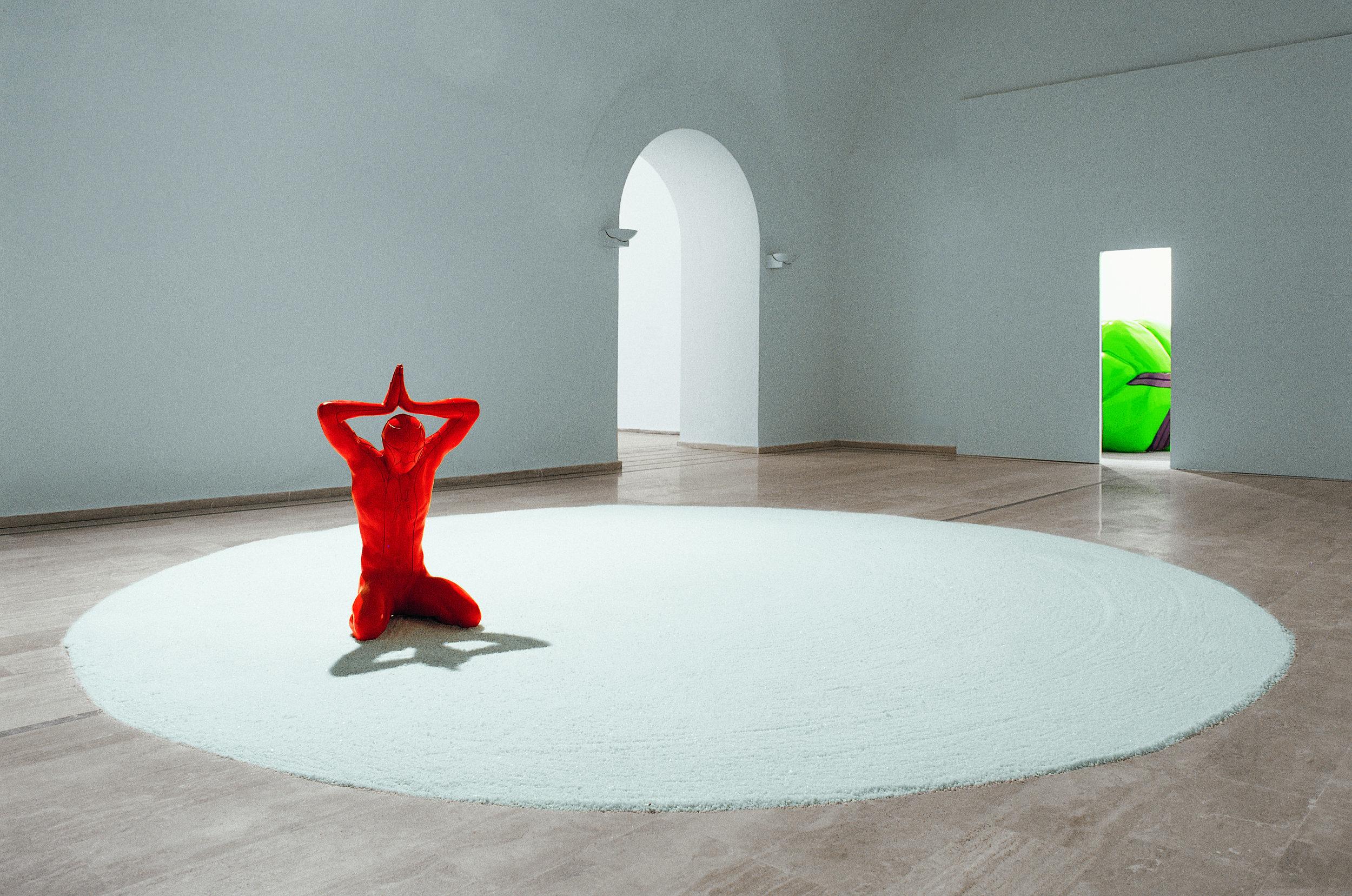 Believe,  2001 . Palazzo delle Esposizioni, Rome. Installation view. Photo: Claudio Abate