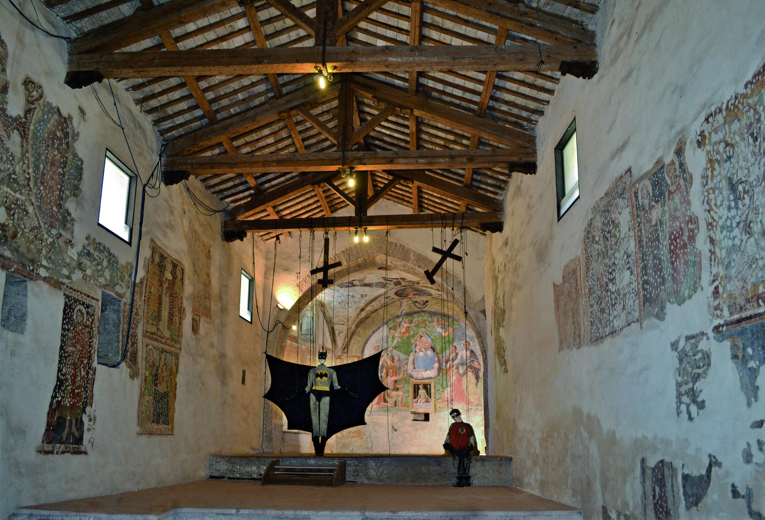 These Imaginary boys , 2004 . Chiesa SS. Giovanni e Paolo, Spoleto 2012. Installation view. Photo: Giorgio Benni